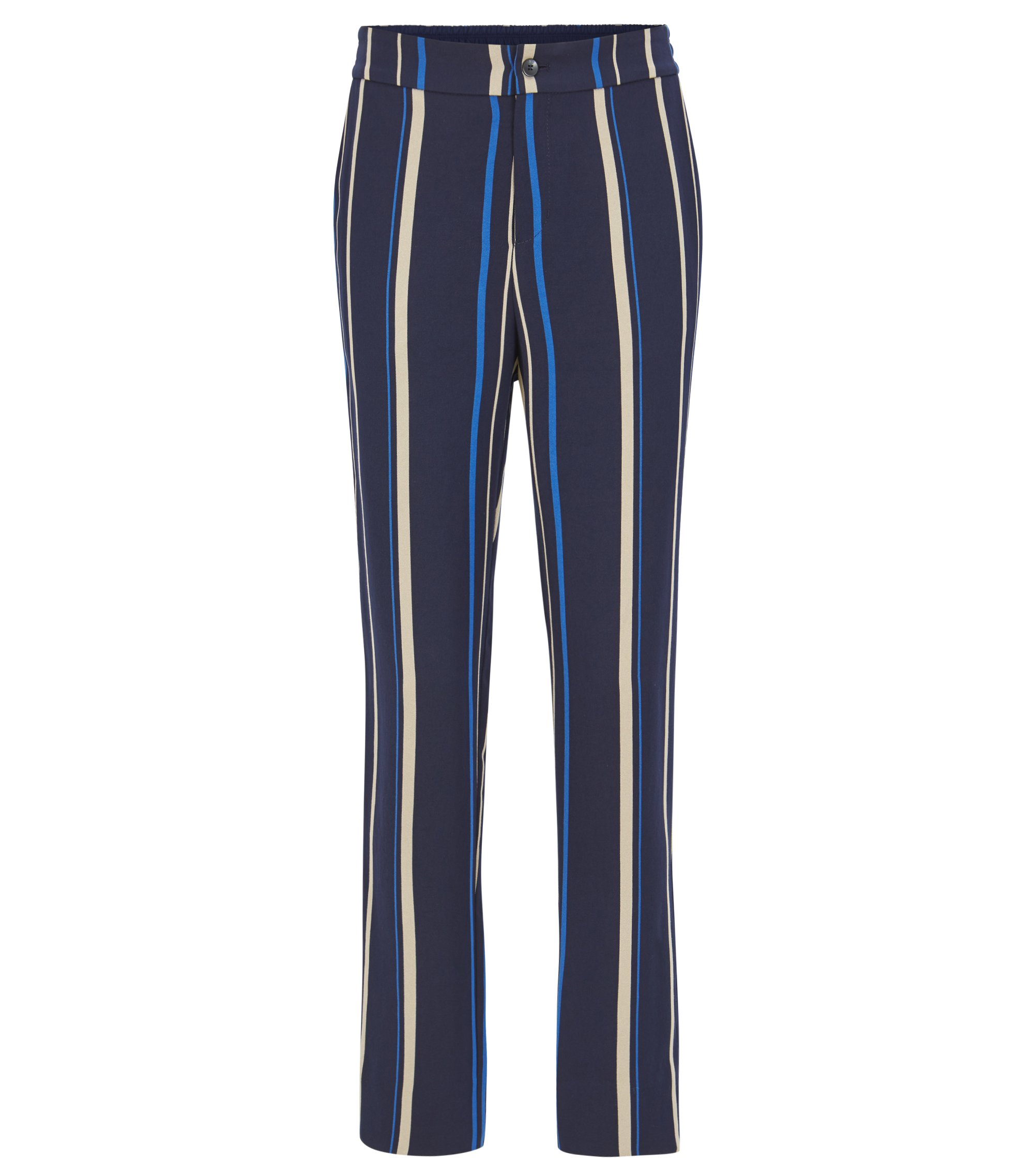 Regular-fit draped trousers with multicolour stripe, Patterned