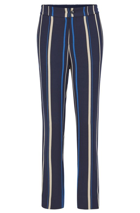 Regular-fit draped trousers with multicolour stripe BOSS yqQwvMavxz