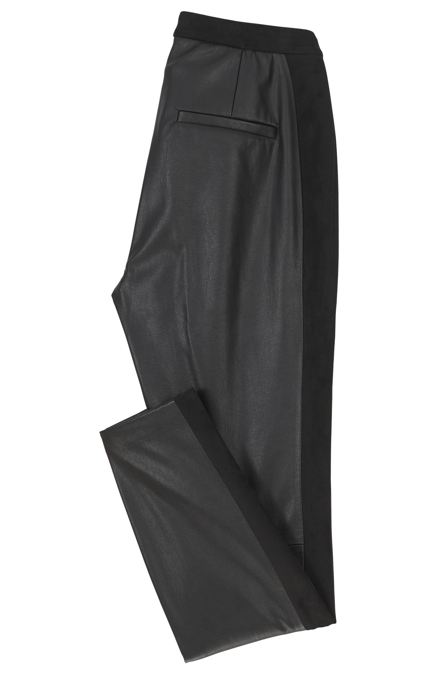 Pantaloni skinny fit in pelle ecologica, Nero