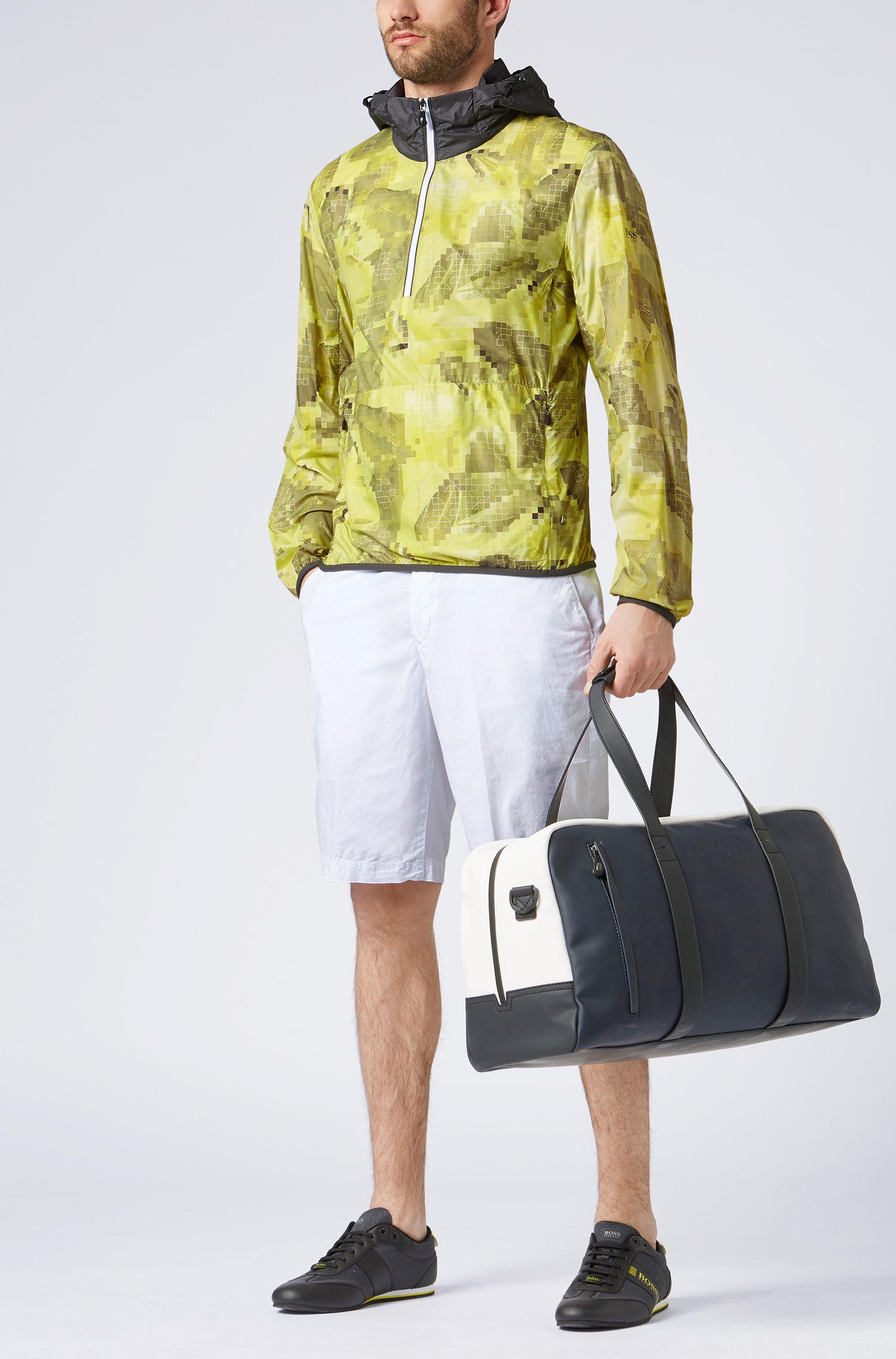 Wasserabweisende Jacke mit Kapuze, Gelb