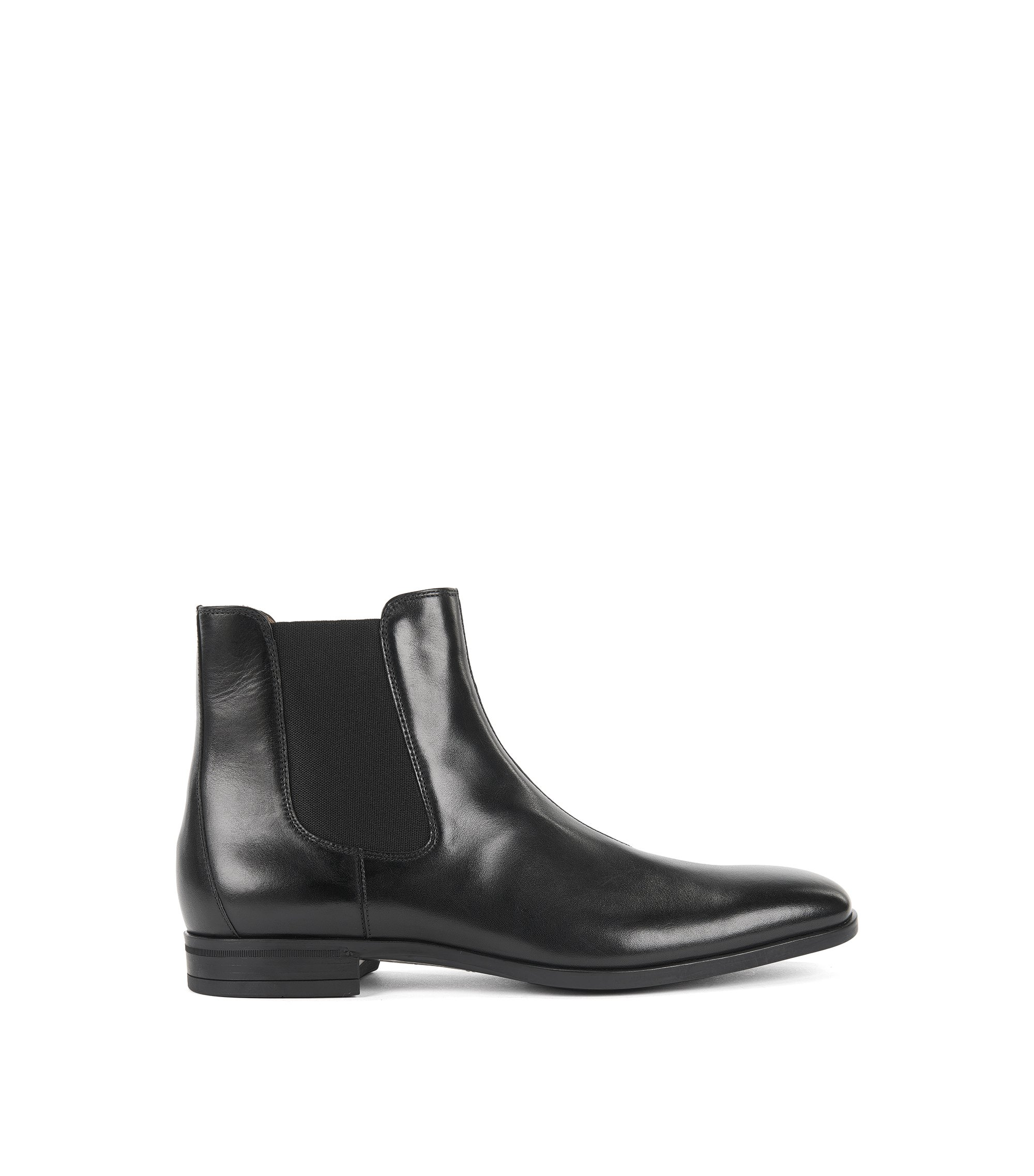 Chelsea boots in vegetable-tanned leather, Black