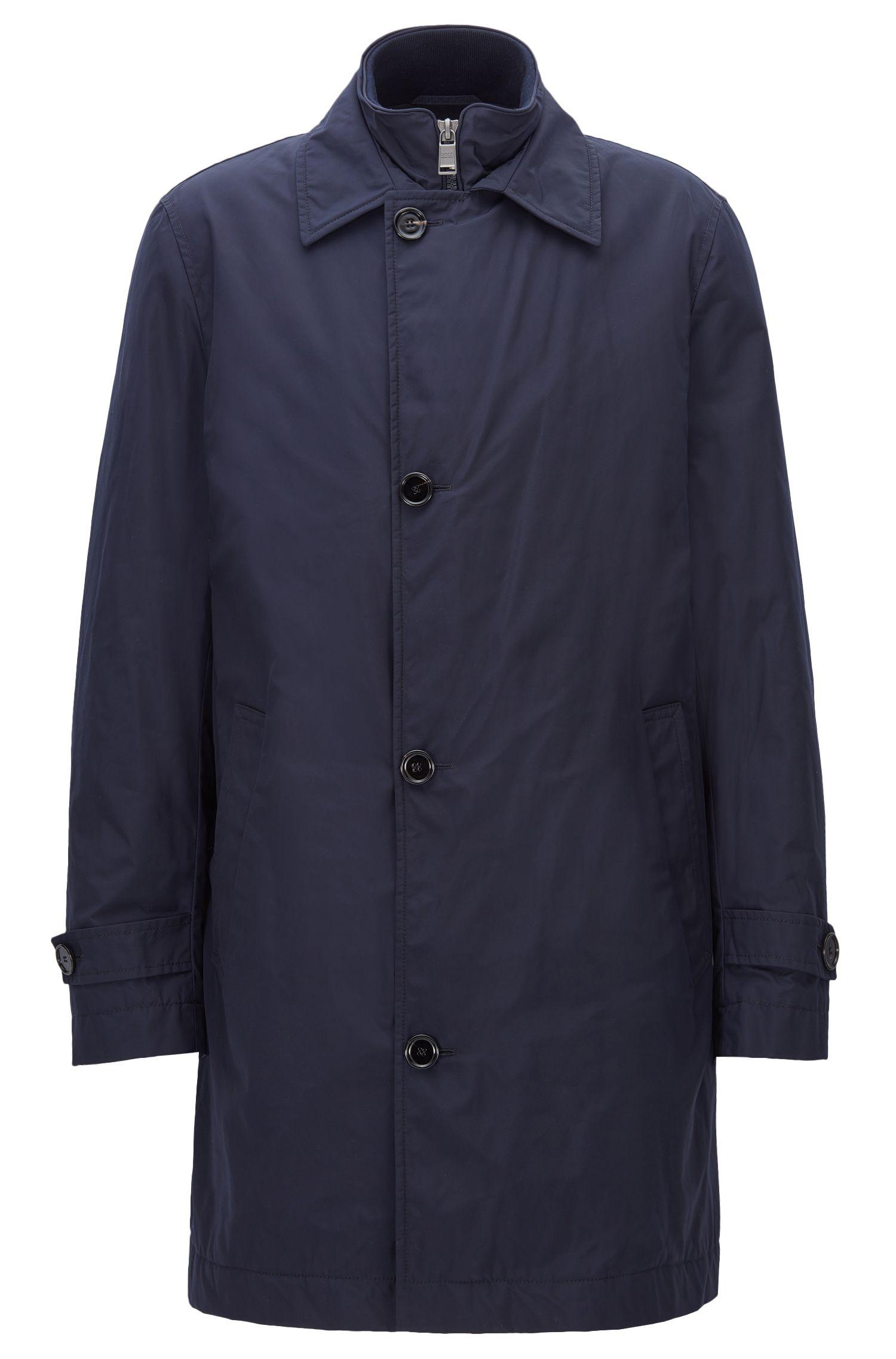 Manteau Slim Fit en tissu technique imperméable