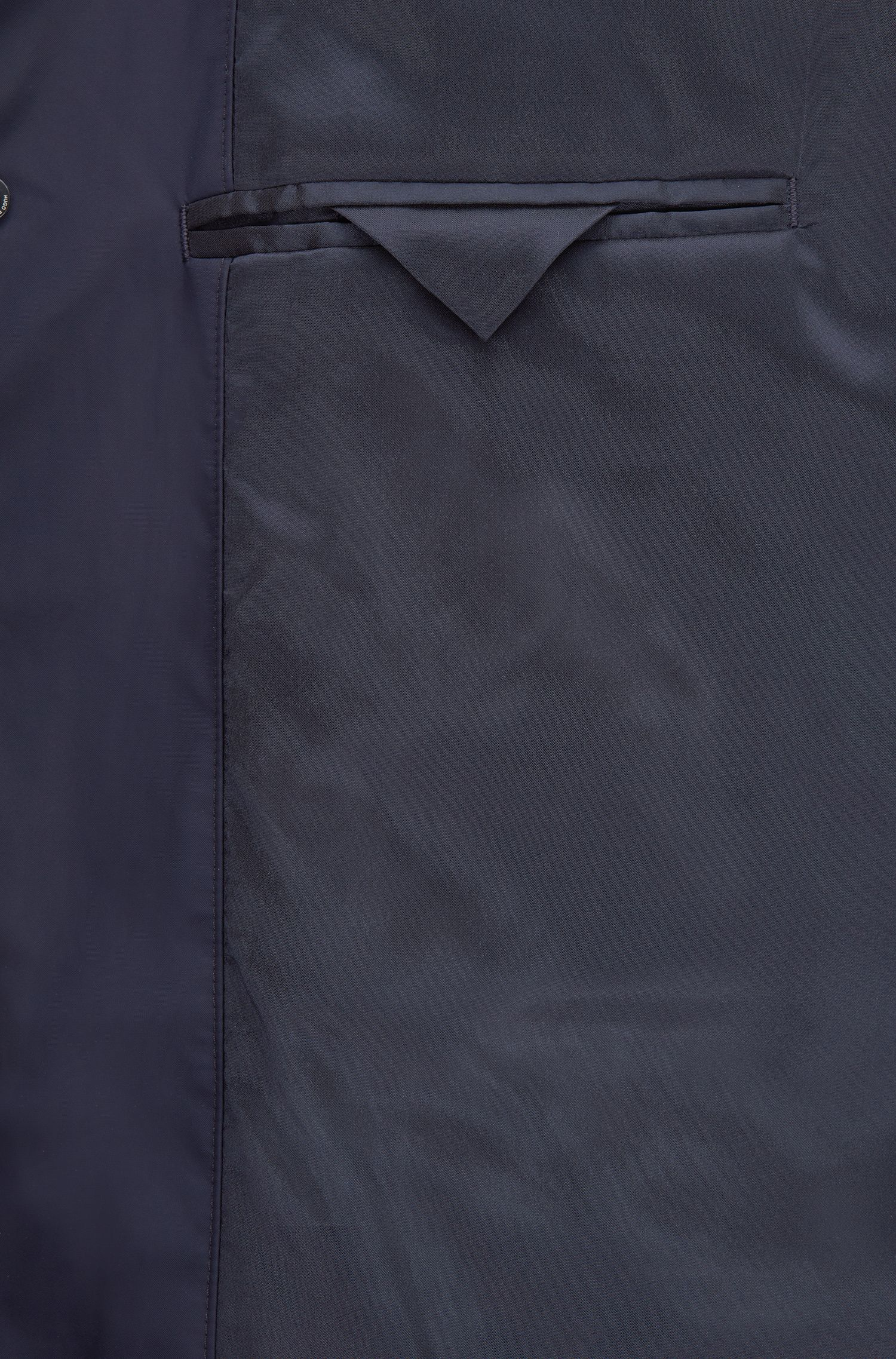 Slim-fit coat in water-repellent technical fabric