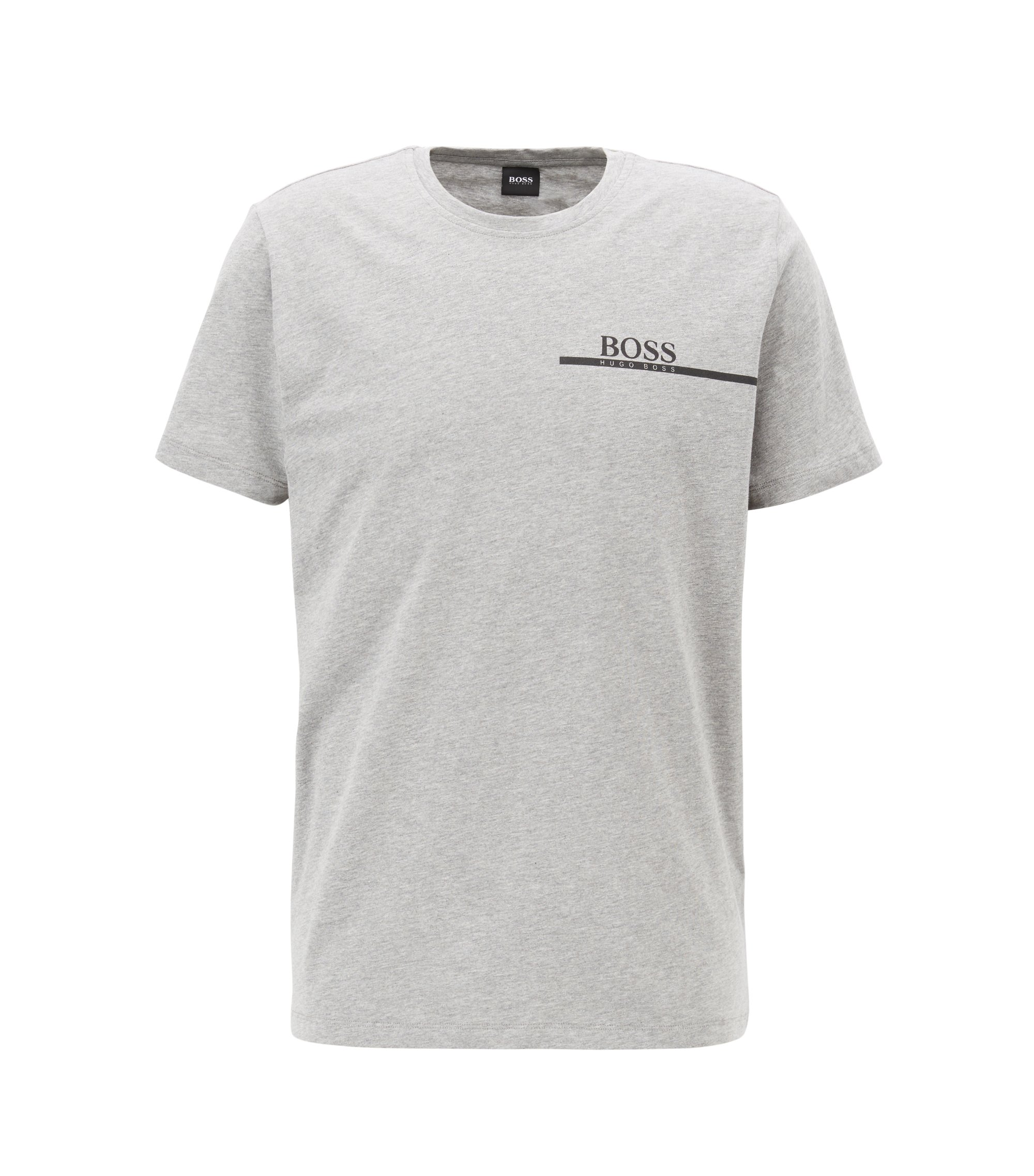 Relaxed-fit cotton T-shirt with logo print, Grey