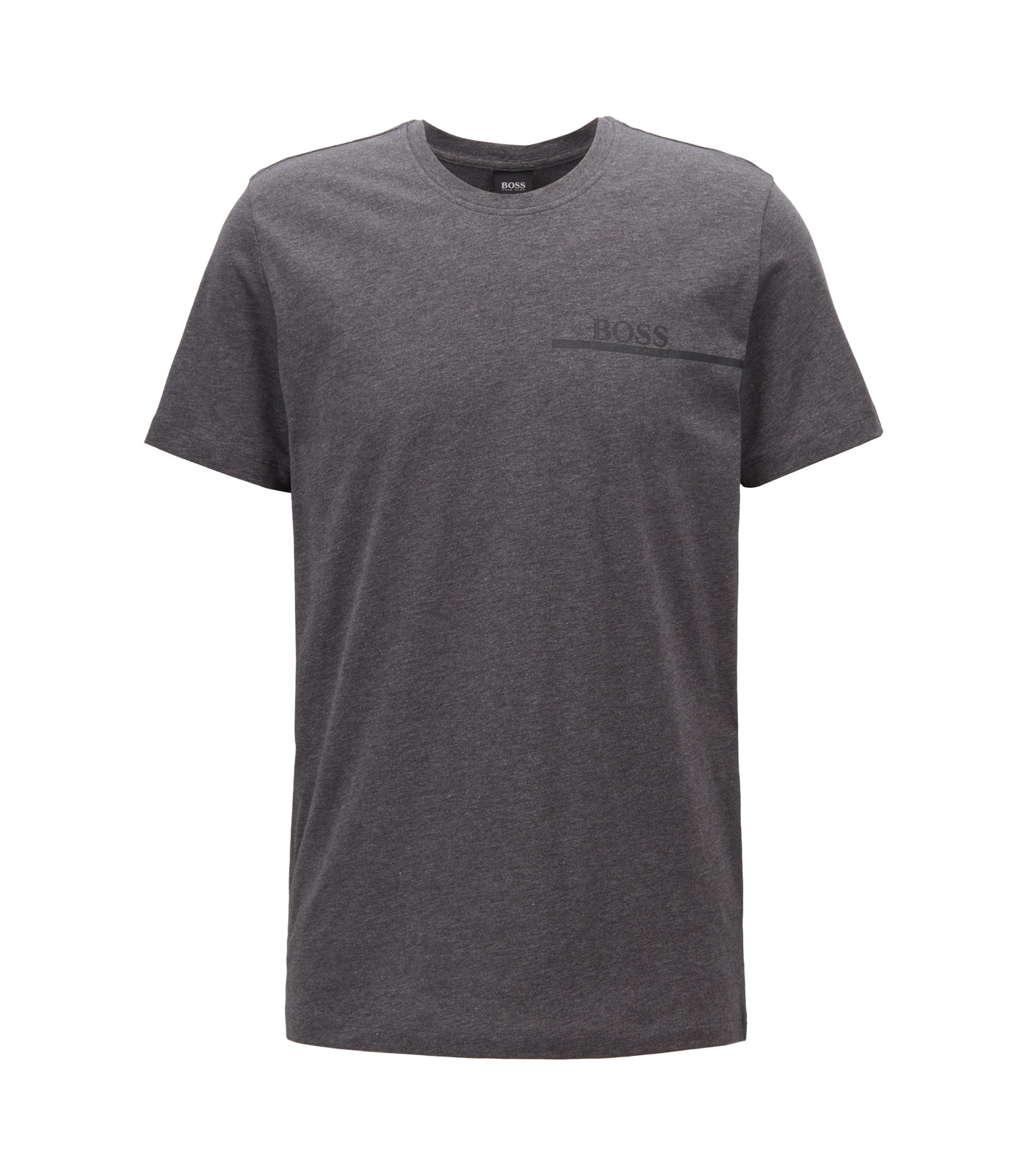 Relaxed-Fit T-Shirt aus Single Jersey mit Logo-Print, Grau