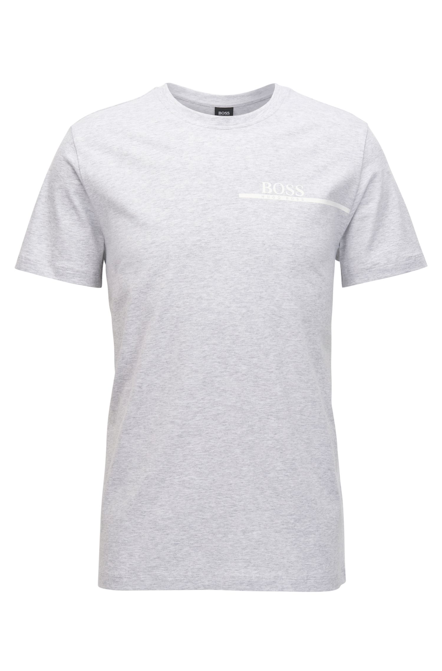 Relaxed-fit cotton T-shirt with logo print