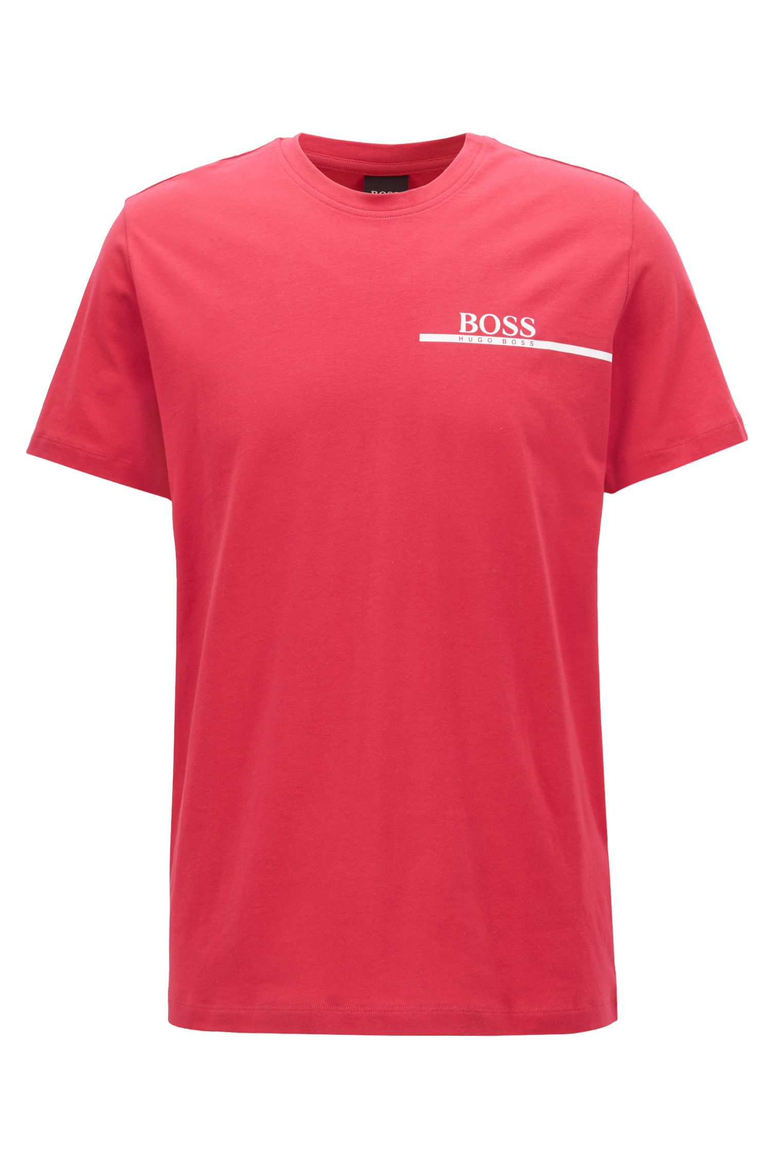Relaxed-Fit T-Shirt aus Single Jersey mit Logo-Print, Rot