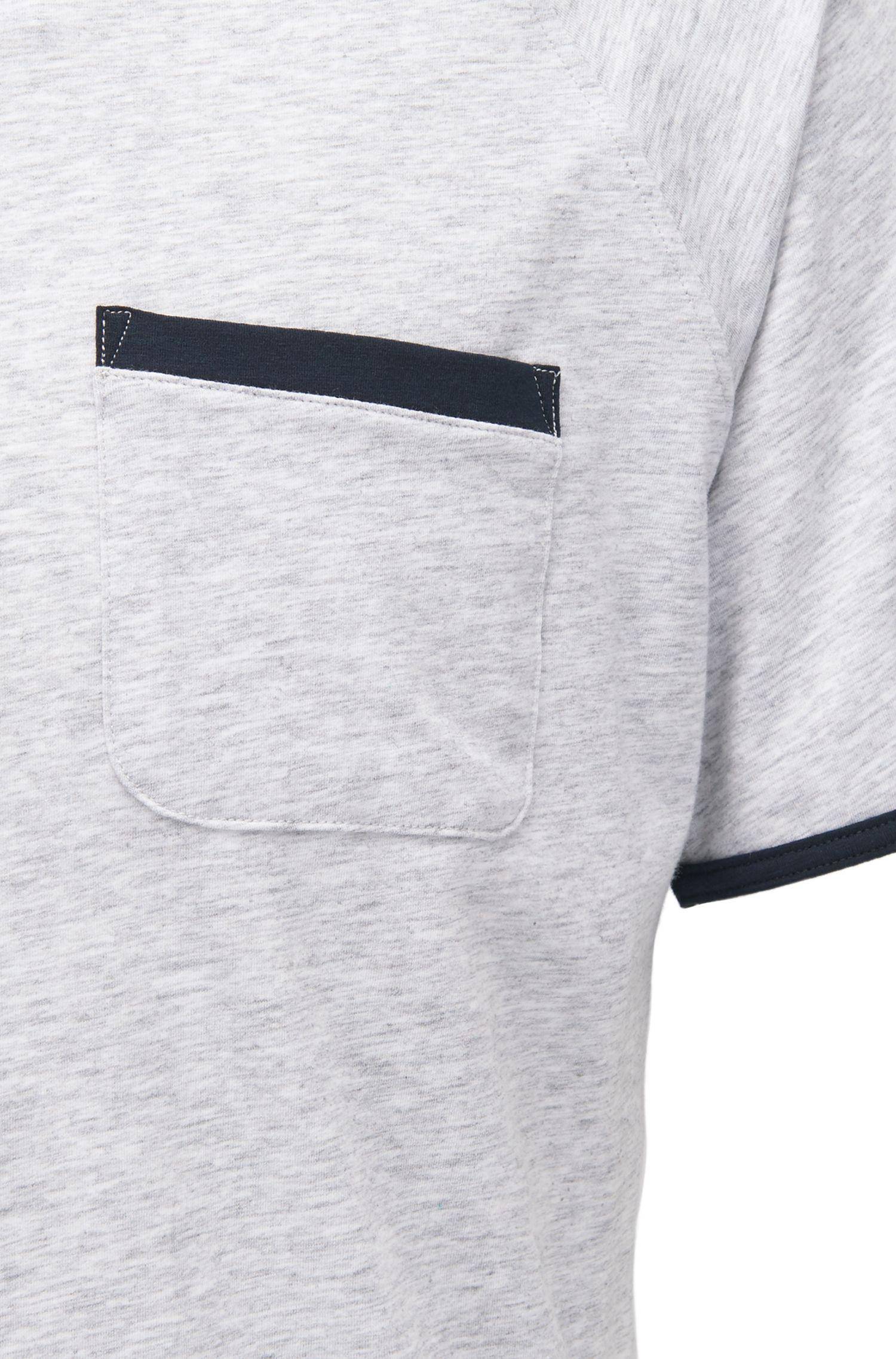 Maglia del pigiama in jersey con profili a contrasto