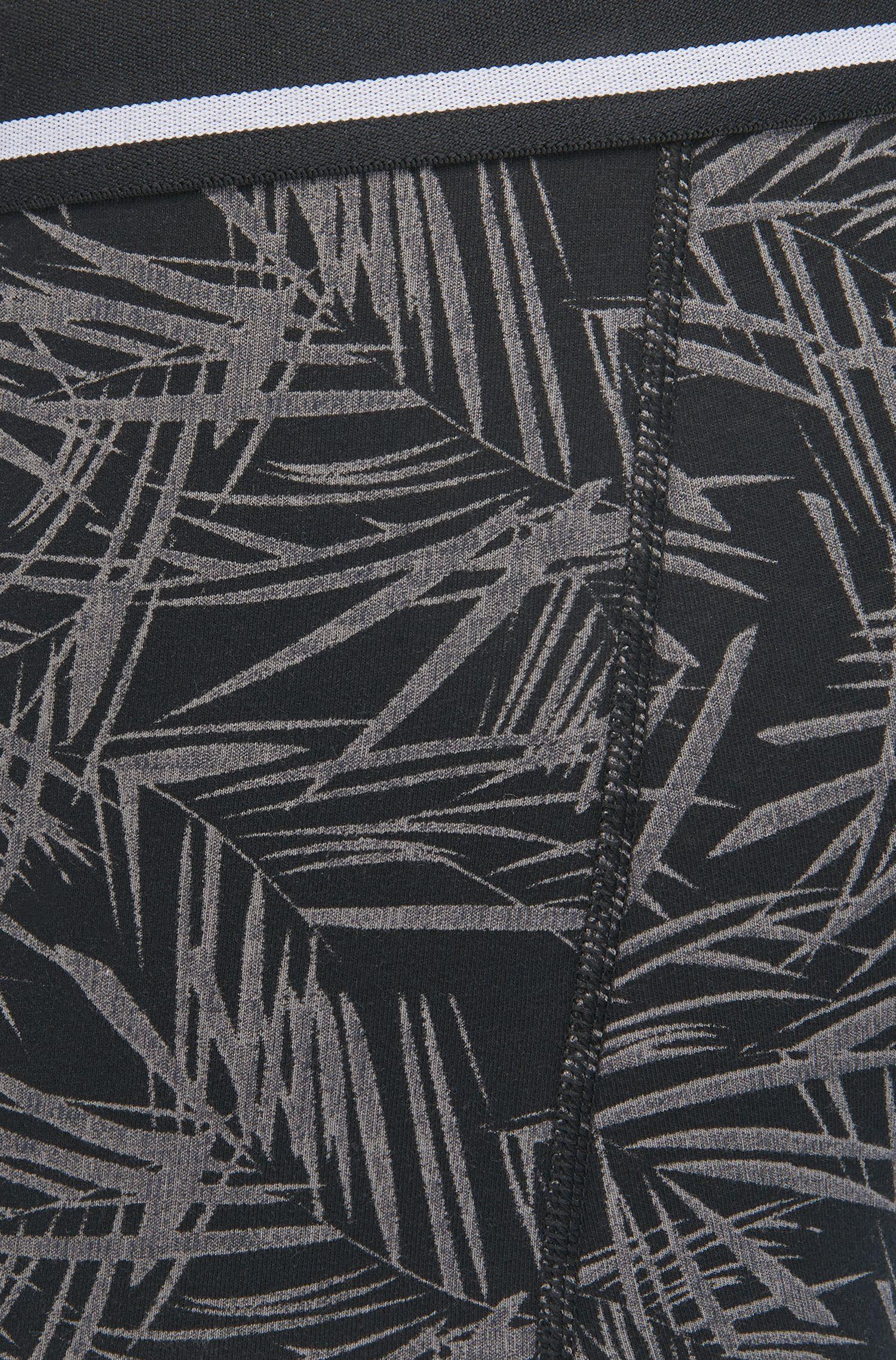 Boxer straight-cut in cotone elasticizzato stampato