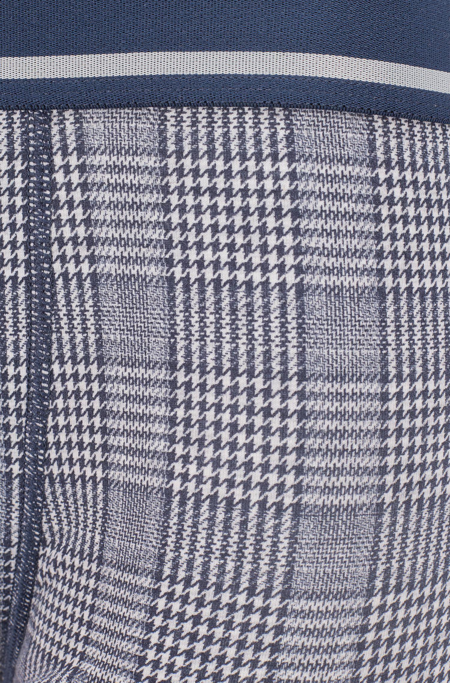 Boxershorts aus bedruckter Stretch-Baumwolle , Grau
