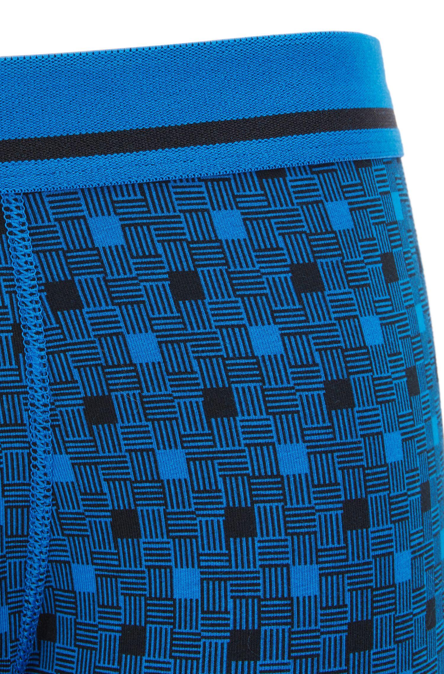 Straight-cut boxerslip van stretchkatoen met print
