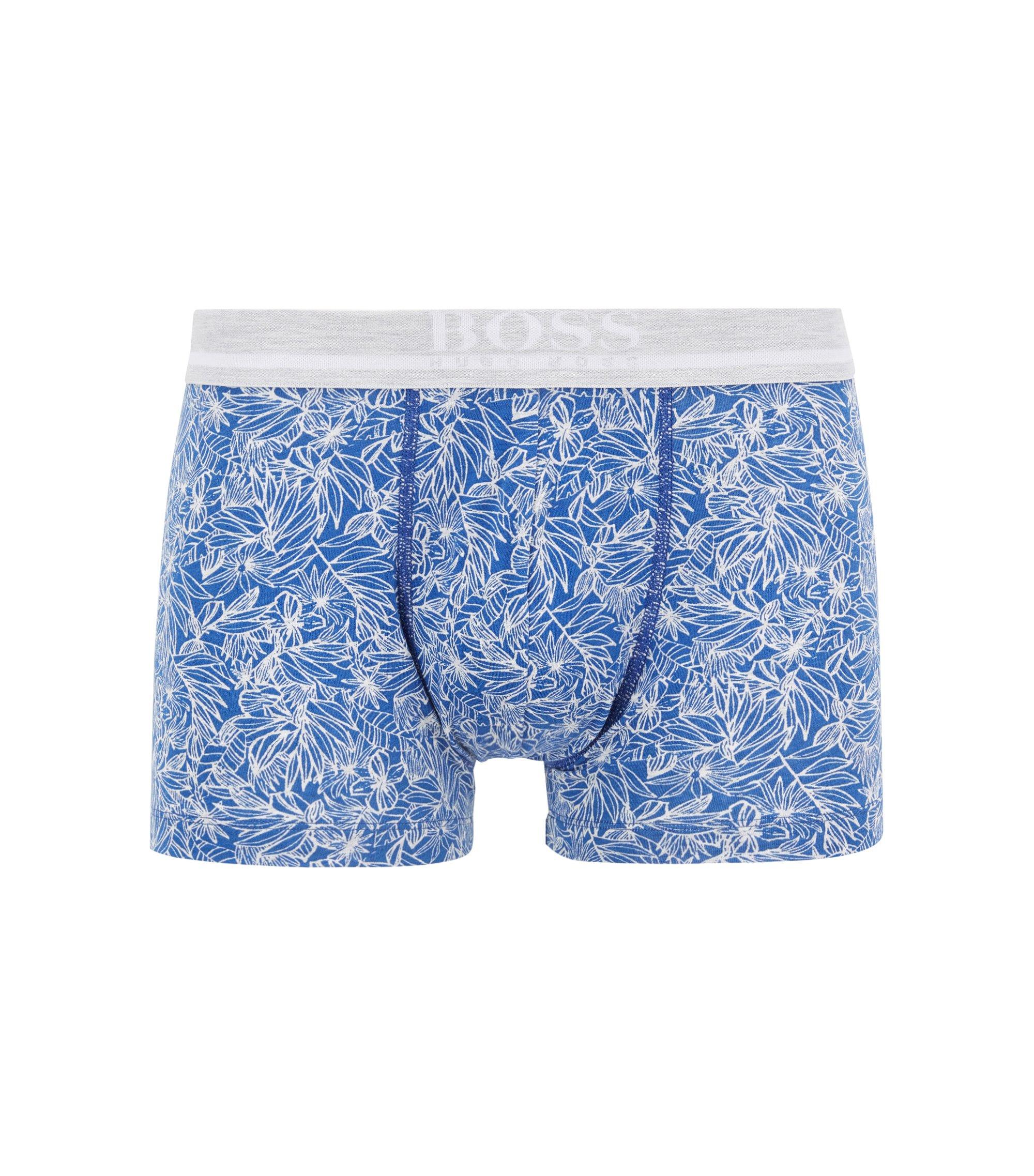Boxershorts aus bedruckter Stretch-Baumwolle , Blau