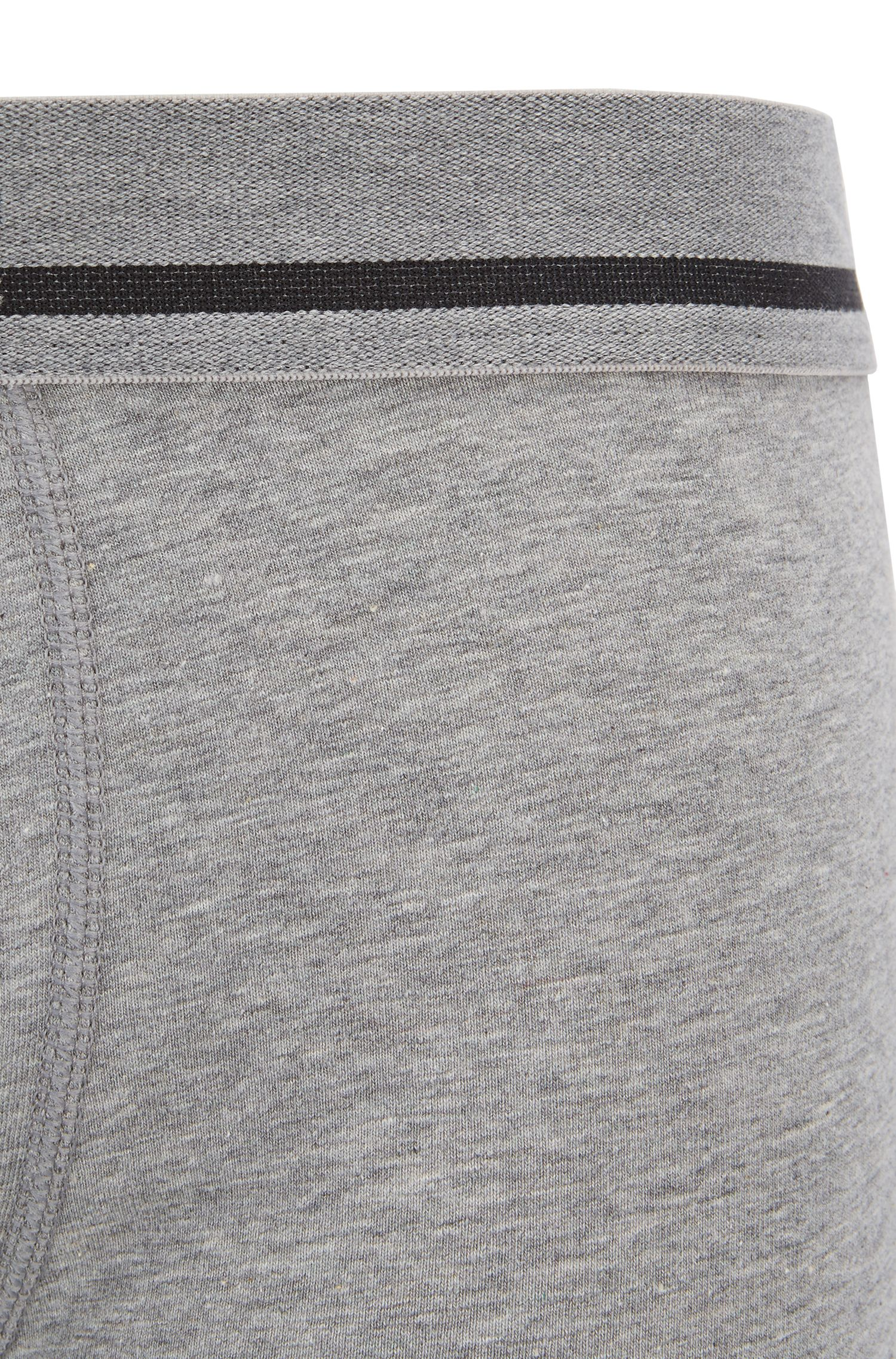Straight-cut boxer-briefs with jacquard logo, Grey