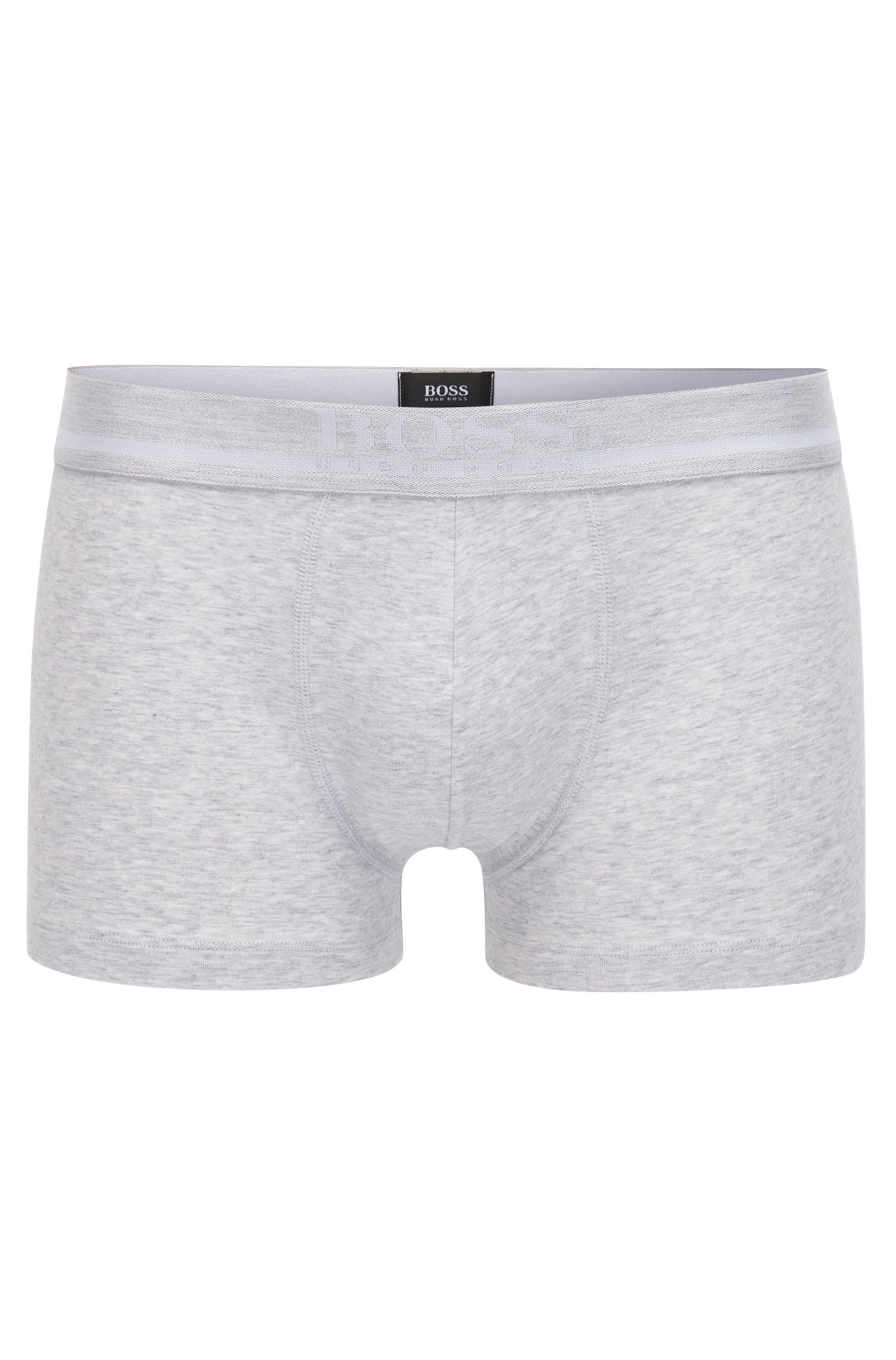 Straight-cut boxer-briefs with jacquard logo