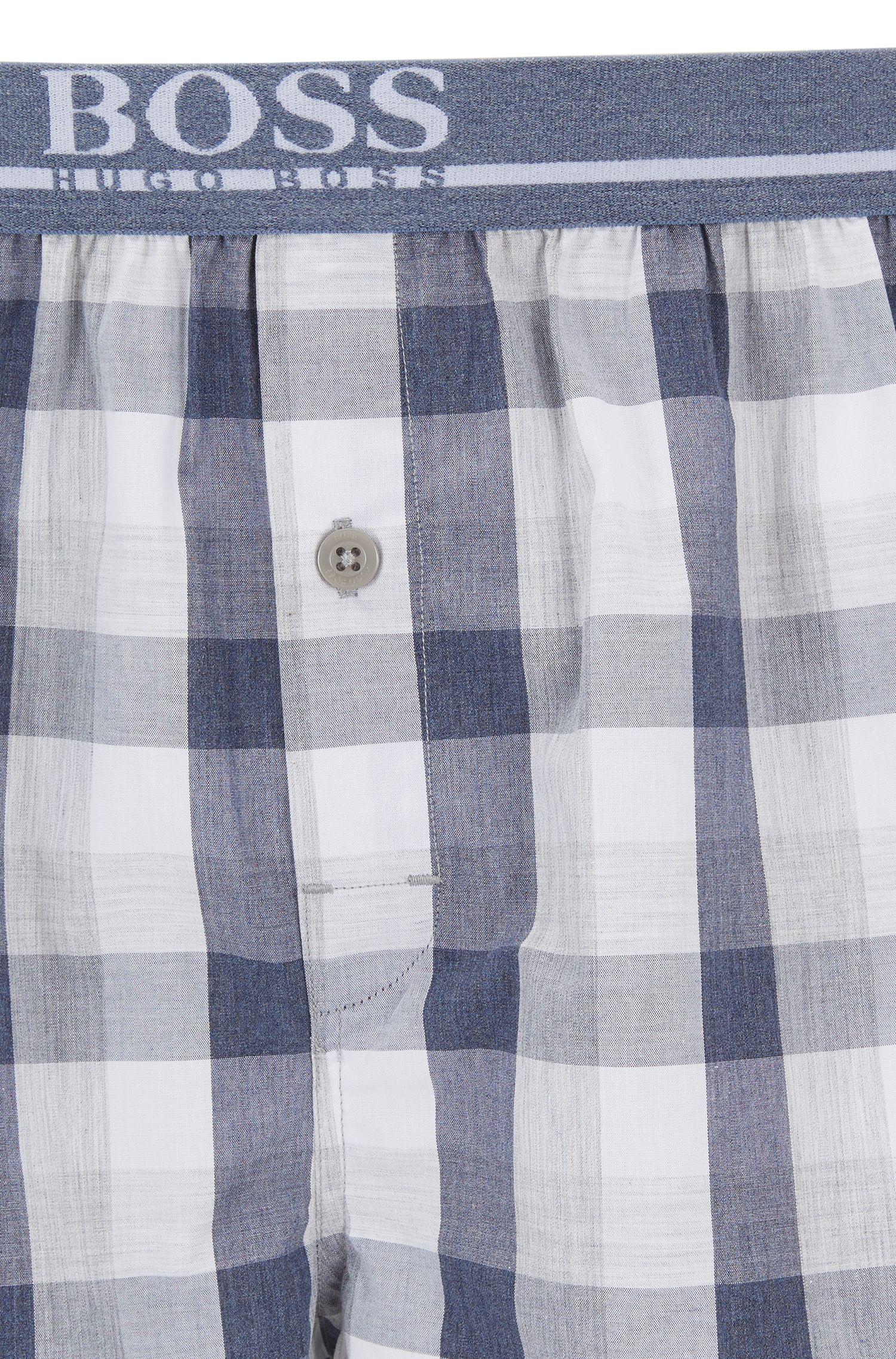 Pyjamaset van garengeverfde katoenpopeline