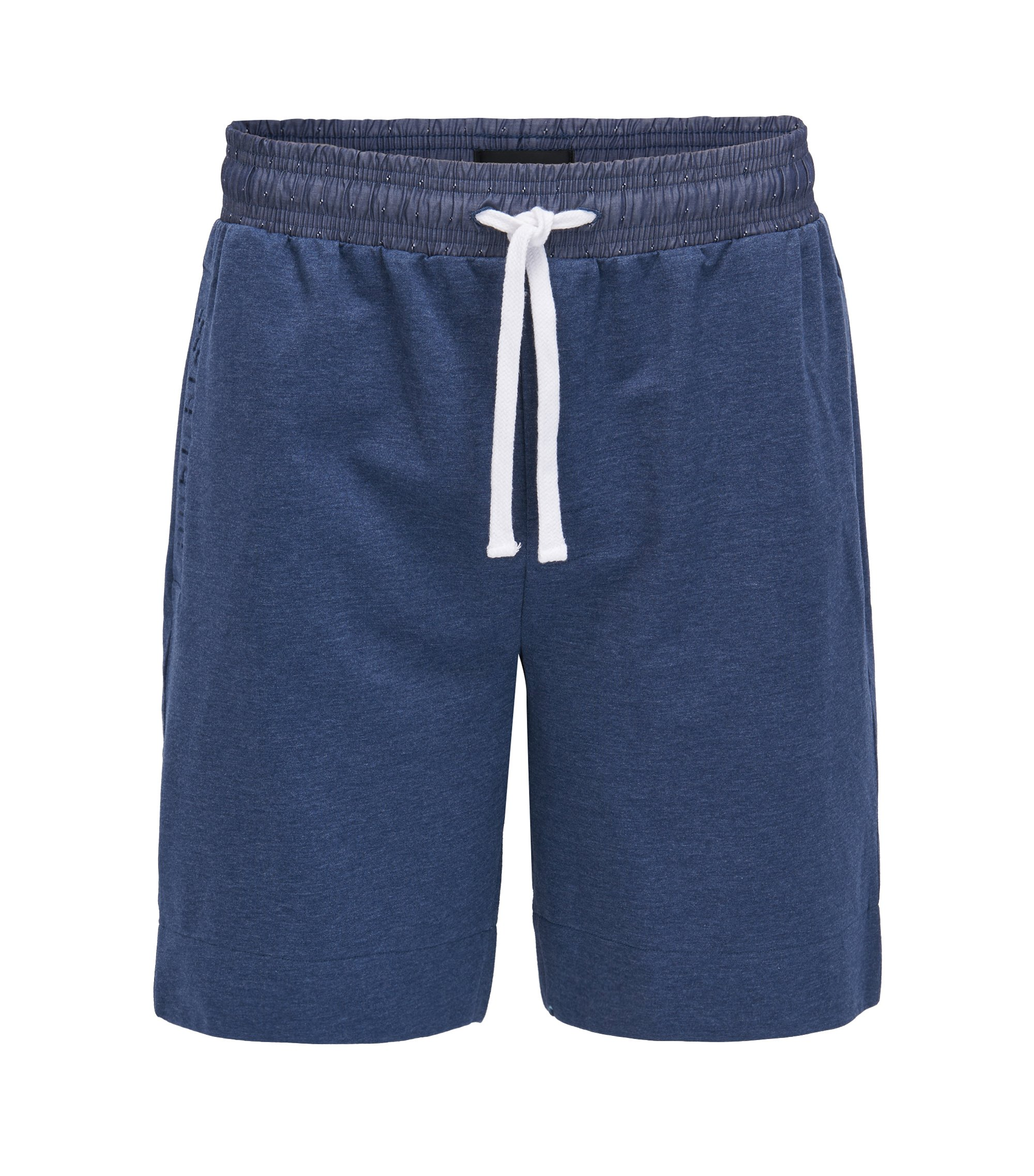 Pyjama-Shorts aus French Terry mit Tunnelzug, Hellblau