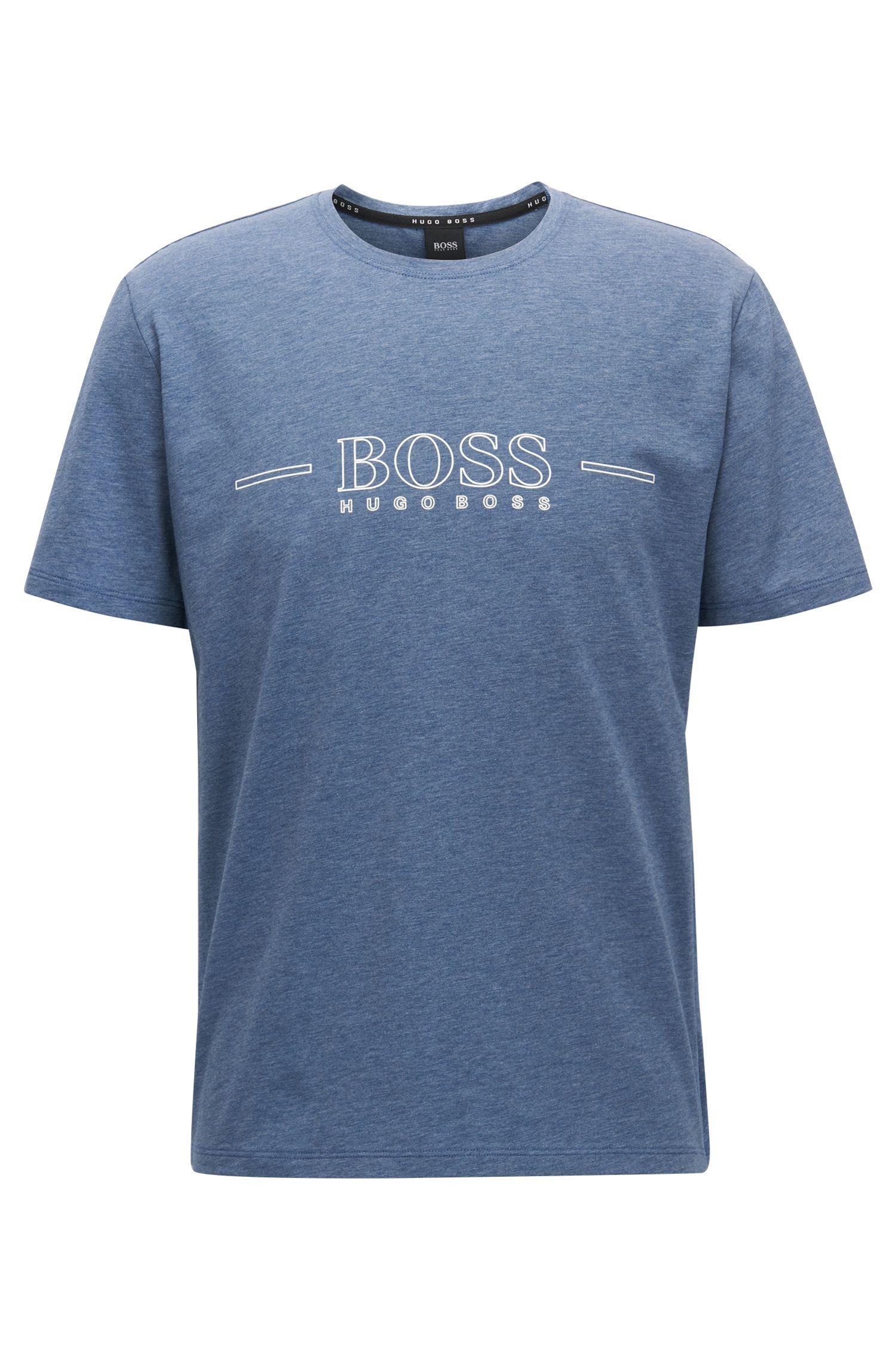 Logo pyjama T-shirt in stretch single jersey
