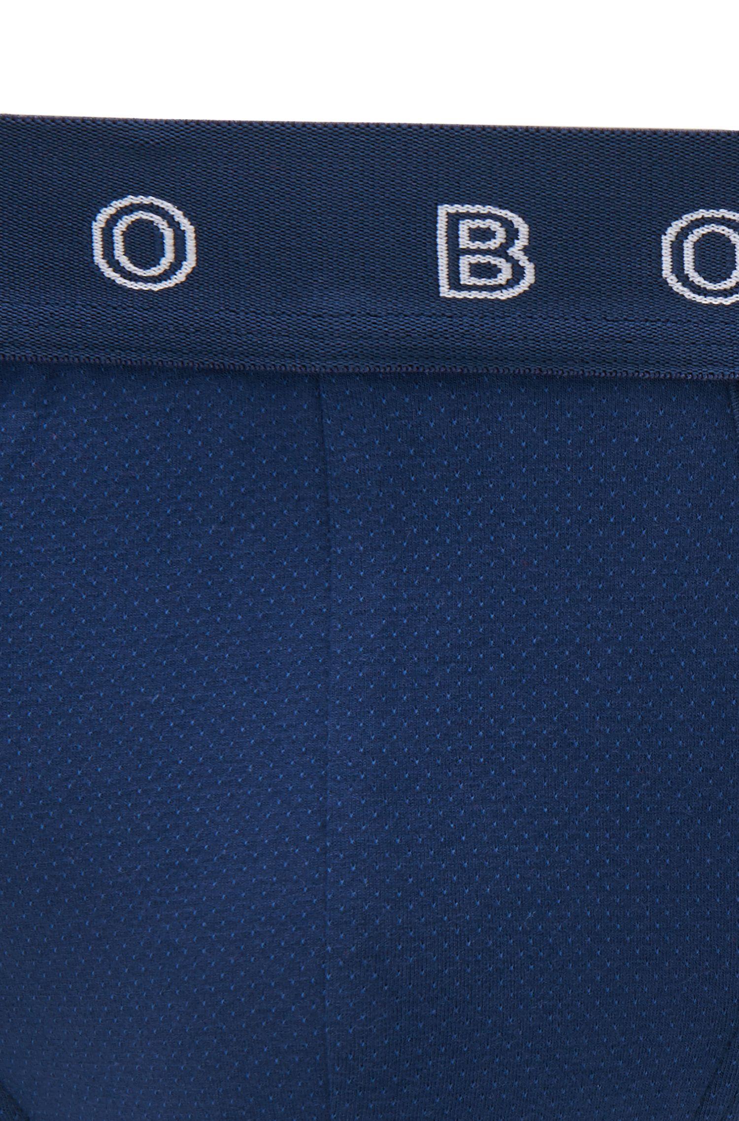 Slip en jersey jacquard à taille logo