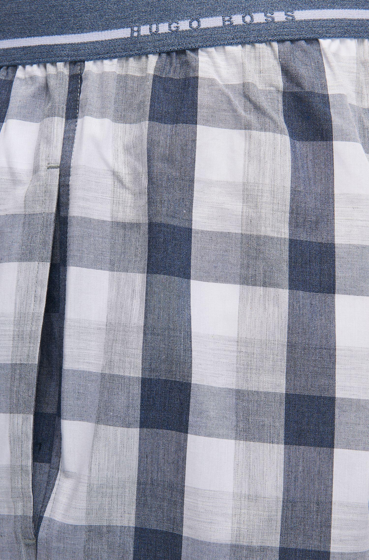 Pyjamabroek van katoenpopeline met denimruit