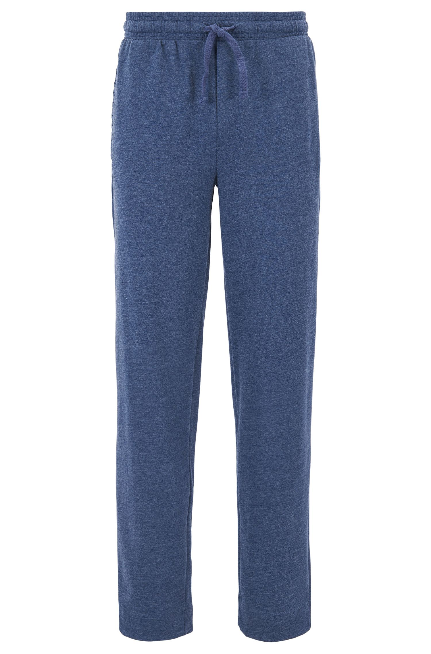 Pyjama trousers in mélange French terry