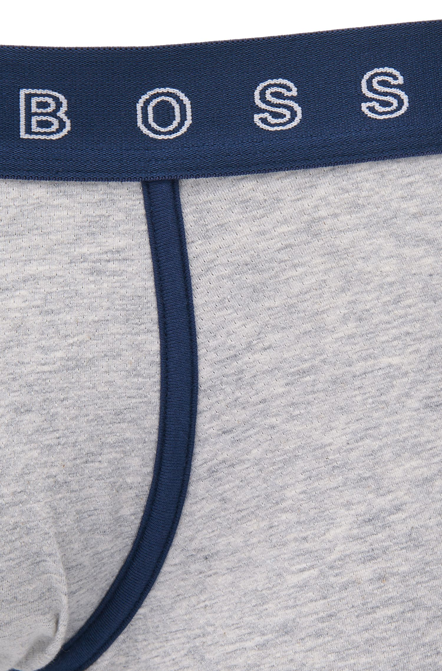 Boxershort in een jacquard van een katoenmix met stretch met tailleband met logo