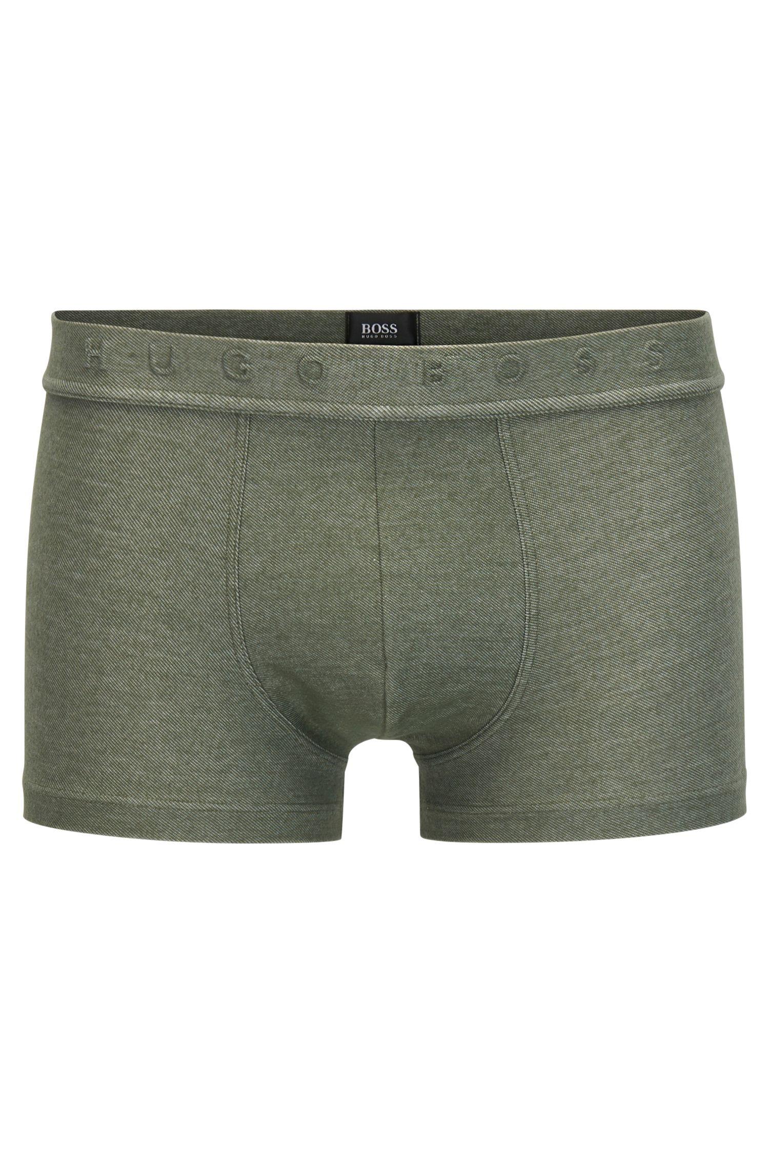 Boxershorts aus Baumwoll-Mix im Denim-Look