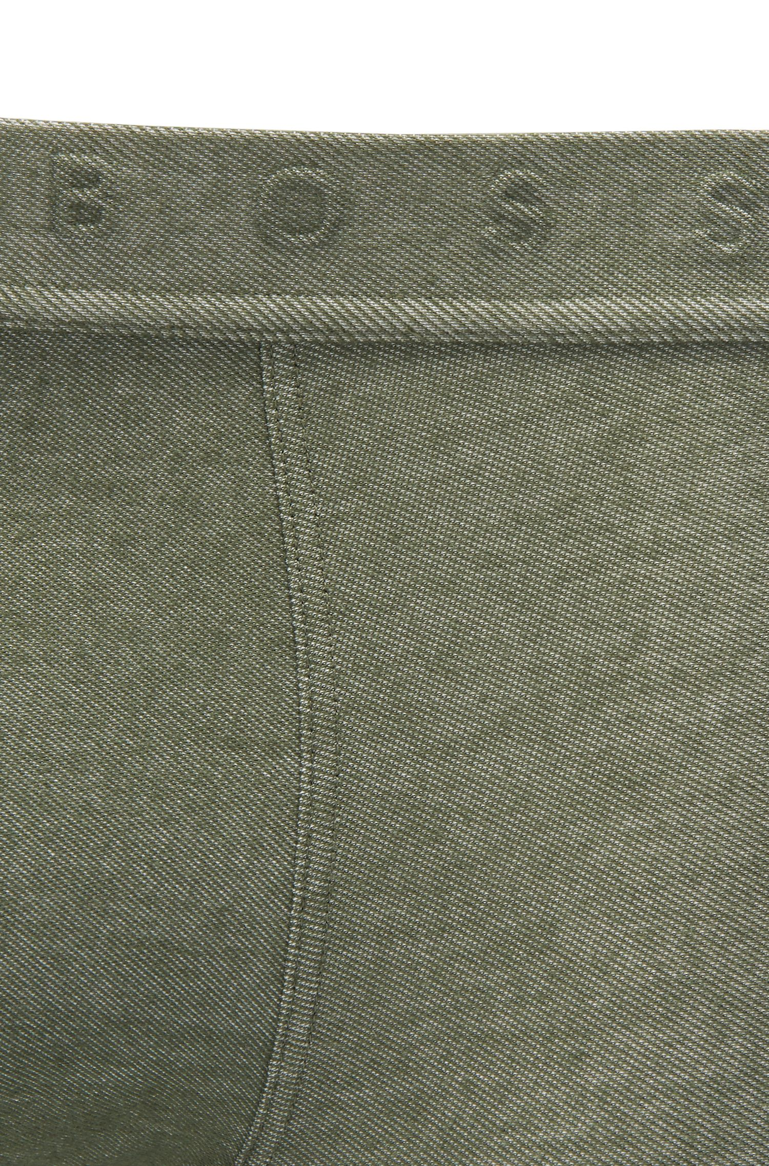Trunks in denim-effect jacquard