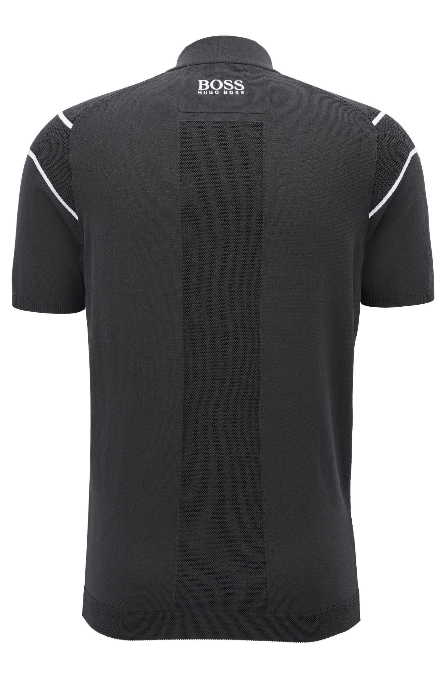 Jersey técnico con detalle de malla y rayas