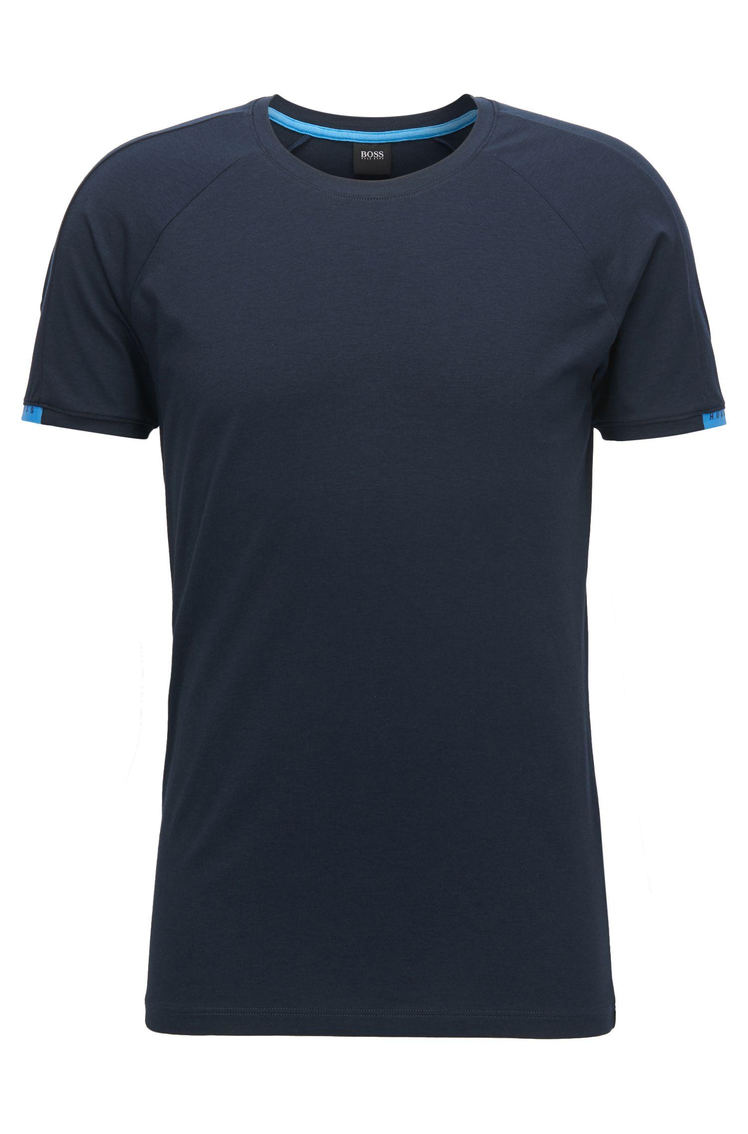 Maillot de corps à col ras-du-cou en jersey simple stretch