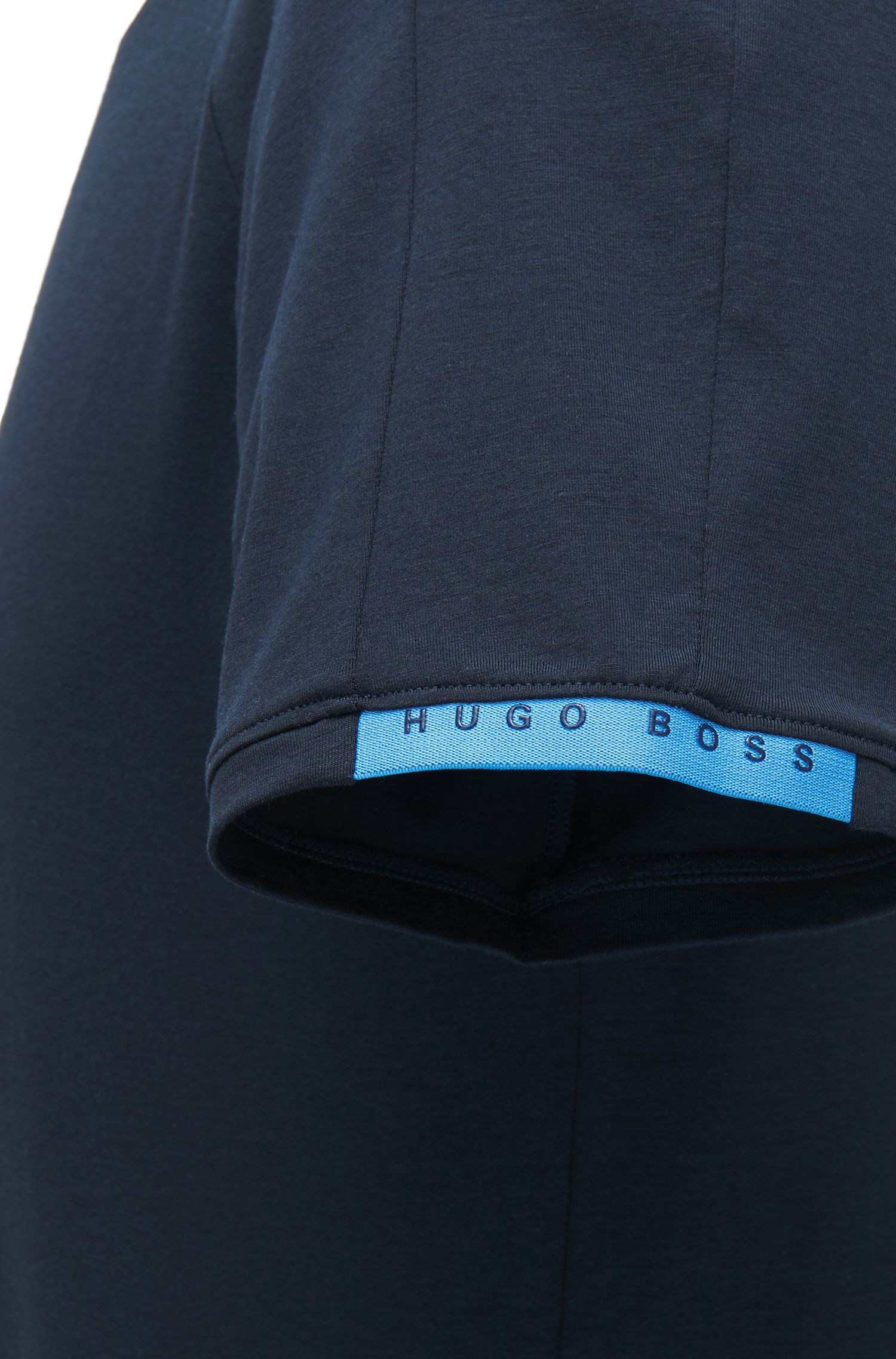 Maglietta intima a girocollo in jersey elasticizzato