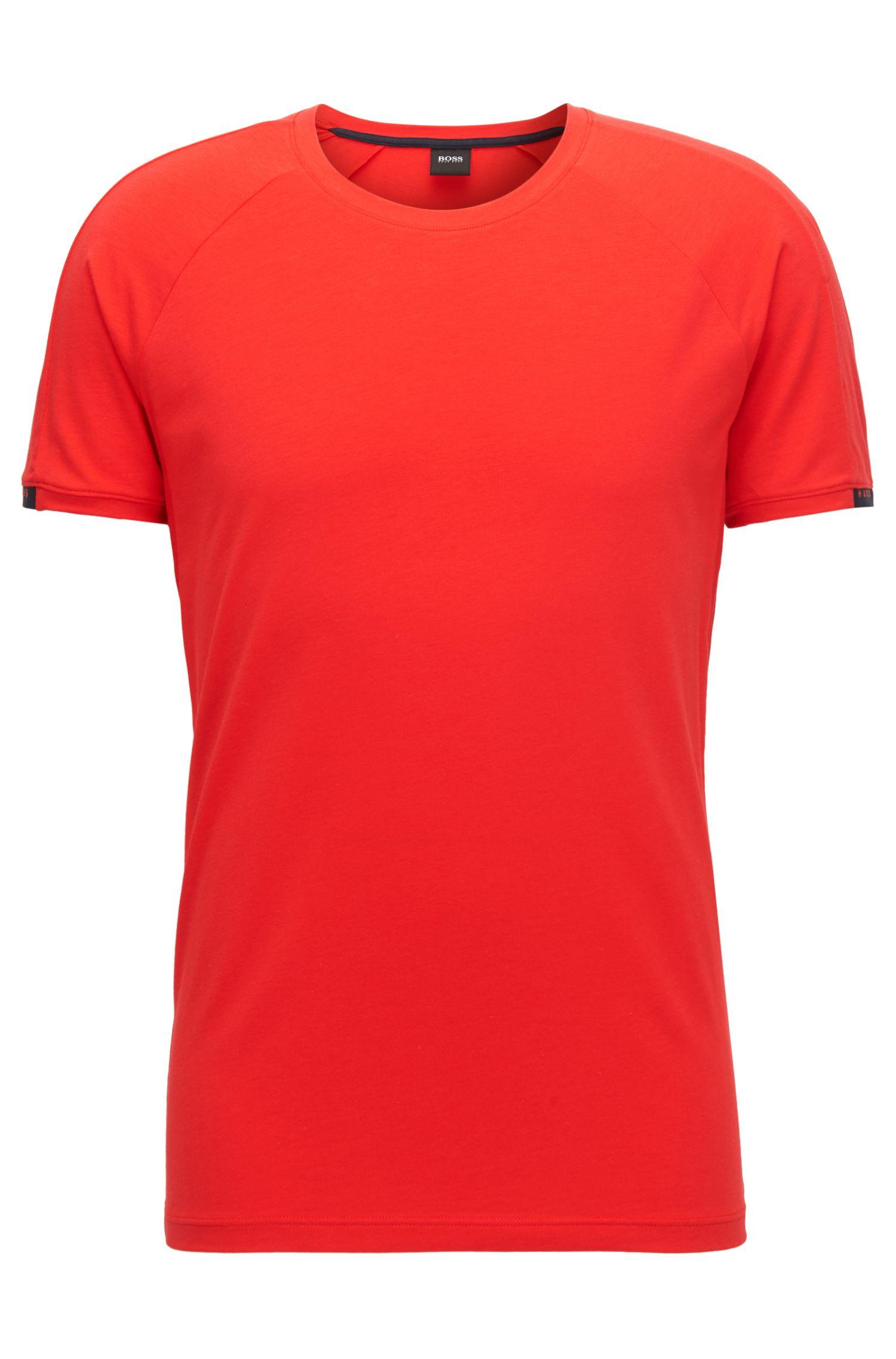 Camiseta interior de cuello redondo en tejido de punto elástico