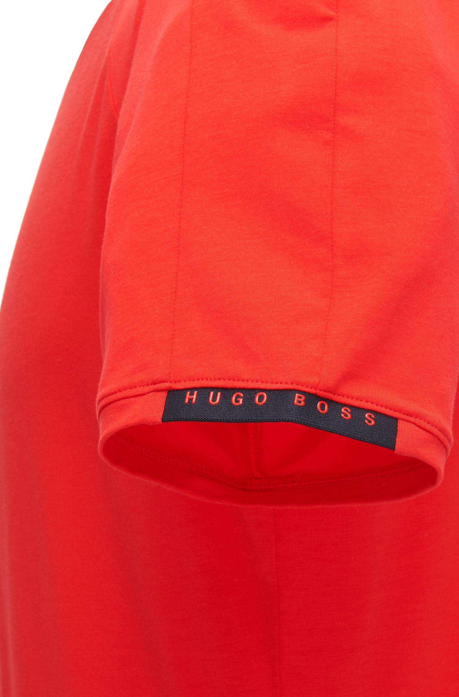 Unterhemd aus elastischem Baumwoll-Mix mit Rundhalsausschnitt