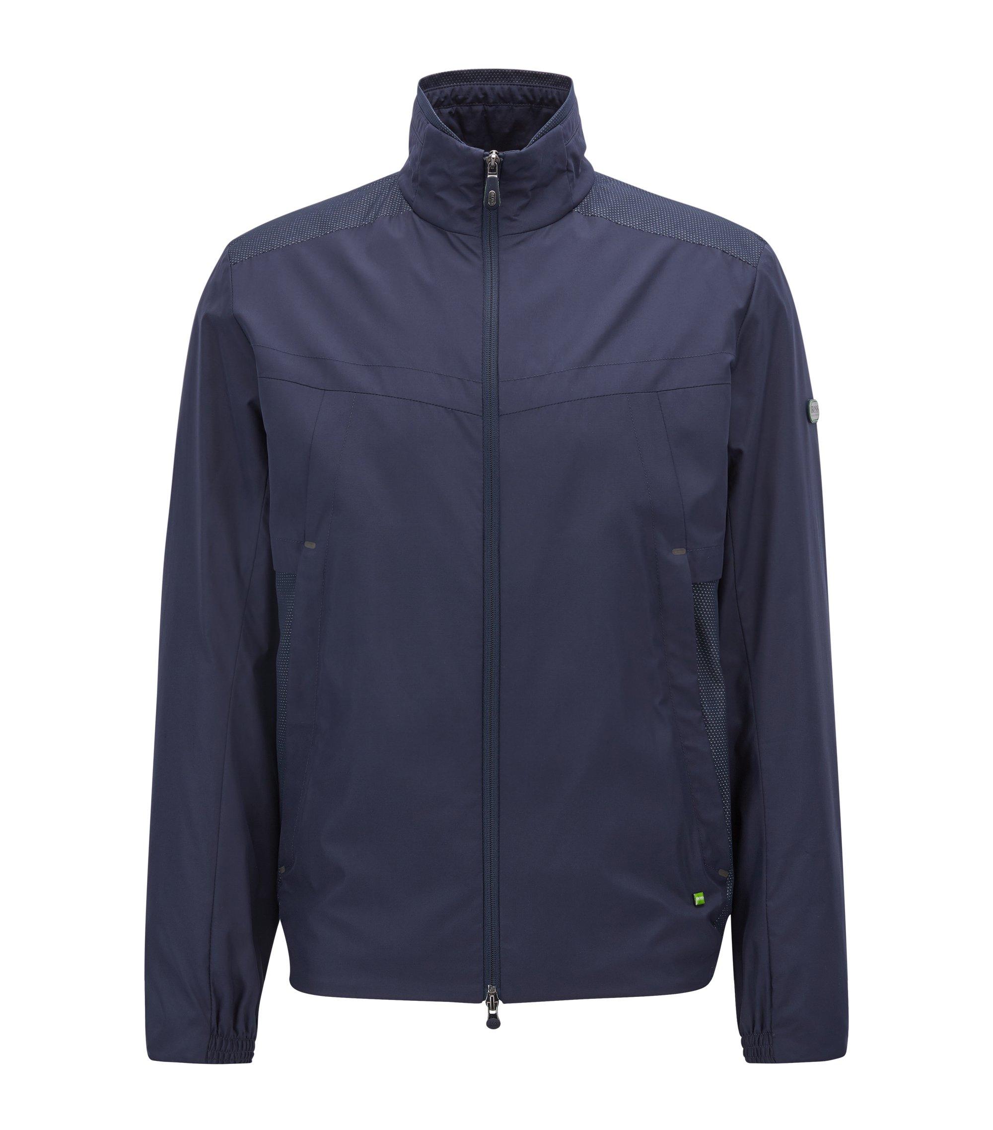 Wasserabweisende Jacke mit Schutz vor elektromagnetischen Strahlen, Dunkelblau