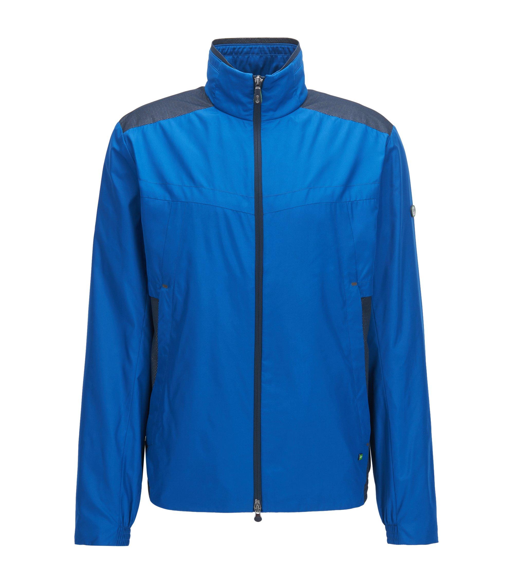 Wasserabweisende Jacke mit Schutz vor elektromagnetischen Strahlen, Blau