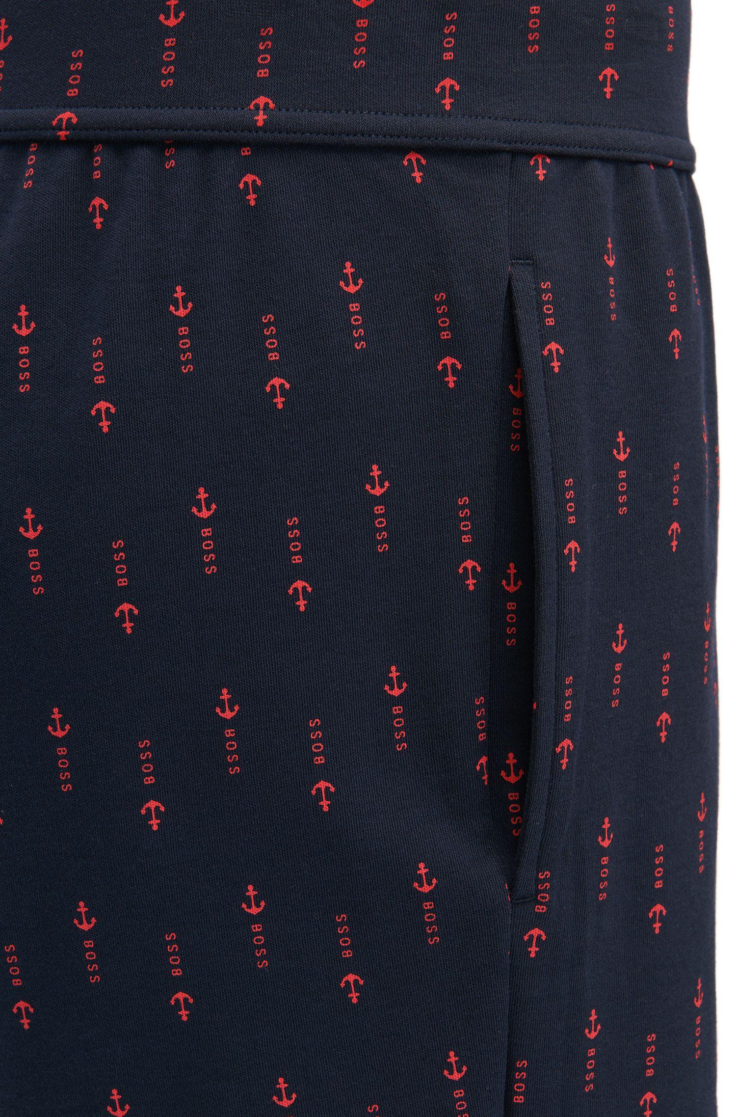 Short de pyjama en coton avec imprimé ancres