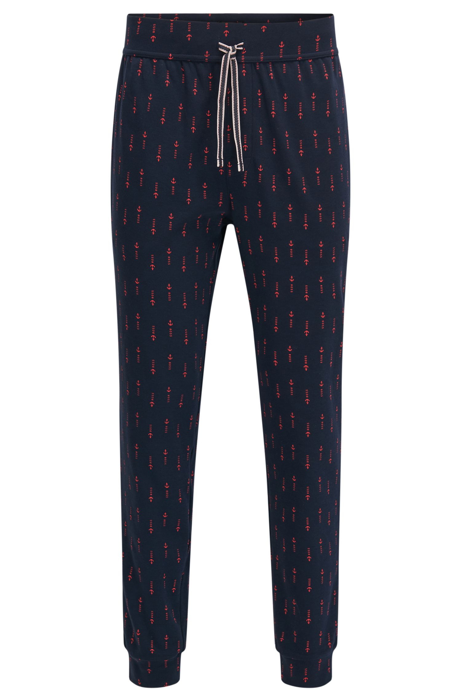 Cuffed pyjama bottoms in printed cotton