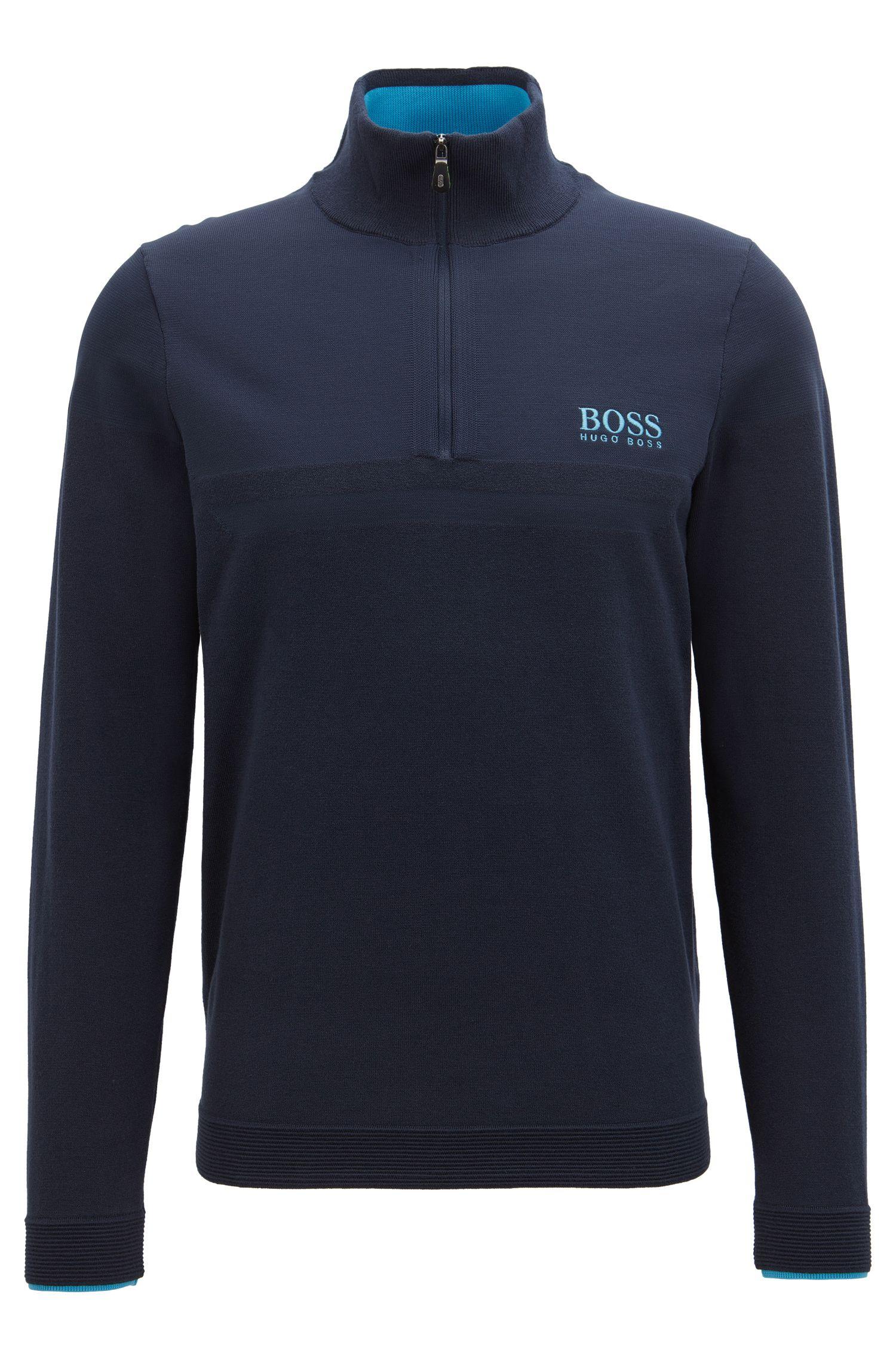Pullover mit COOLMAX®-Technologie und Reißverschluss am Stehkragen