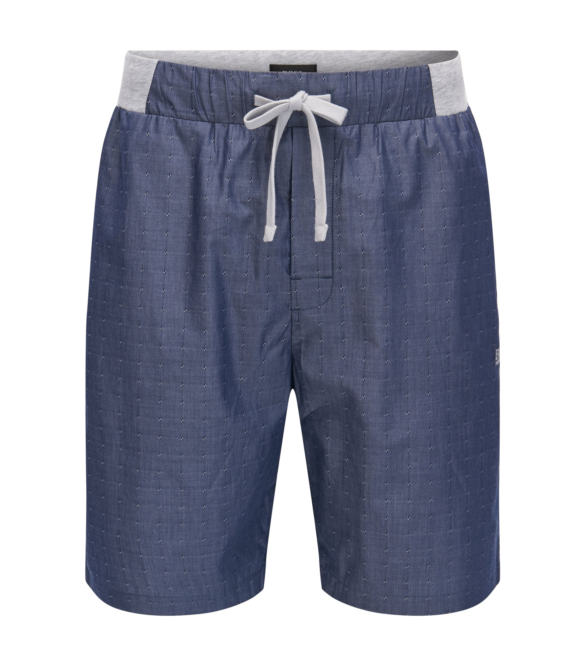 Cotton pyjama shorts with fils coupé , Open Grey
