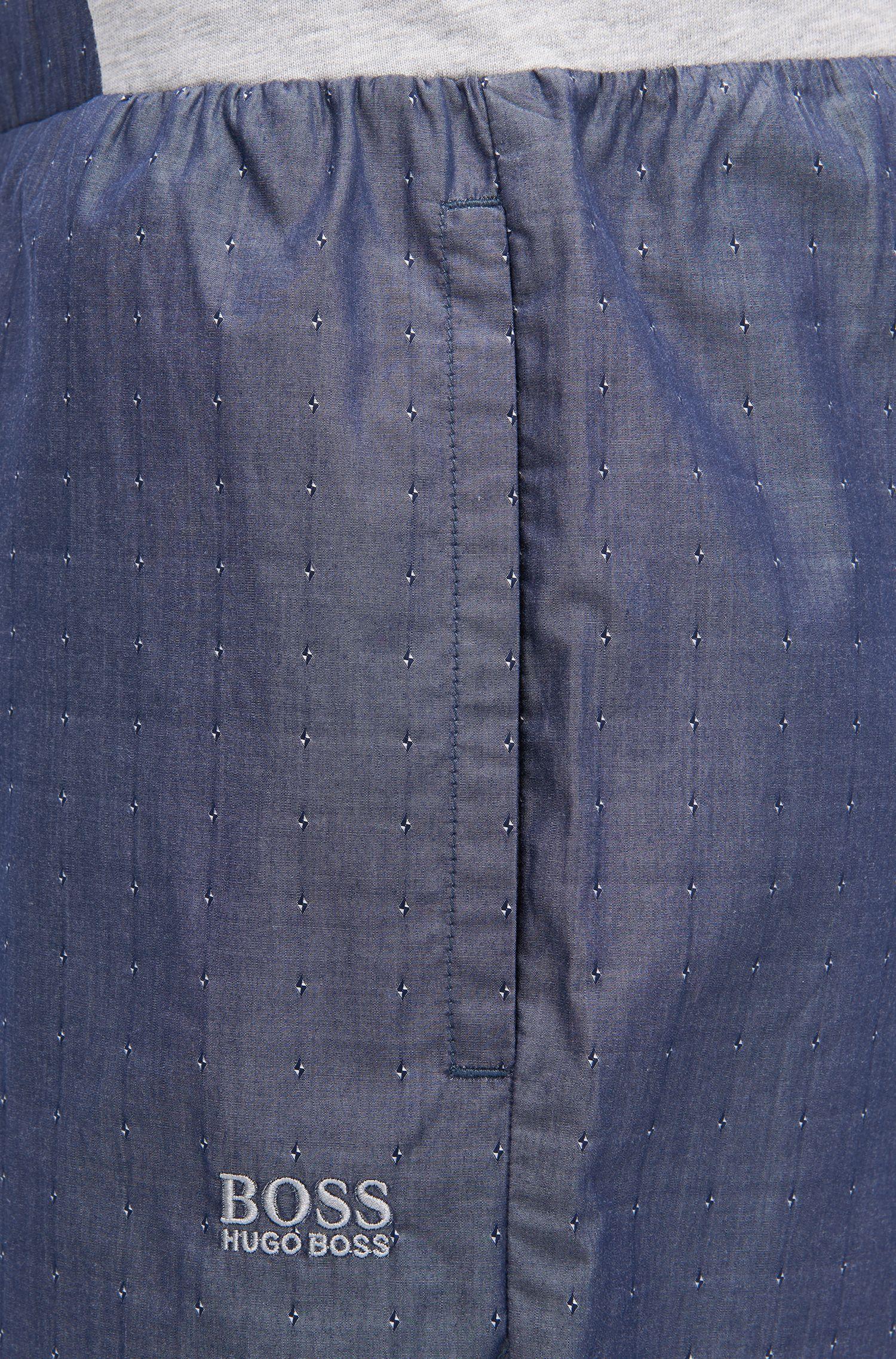 Pyjamashorts aus Baumwolle mit Fil-coupé-Muster
