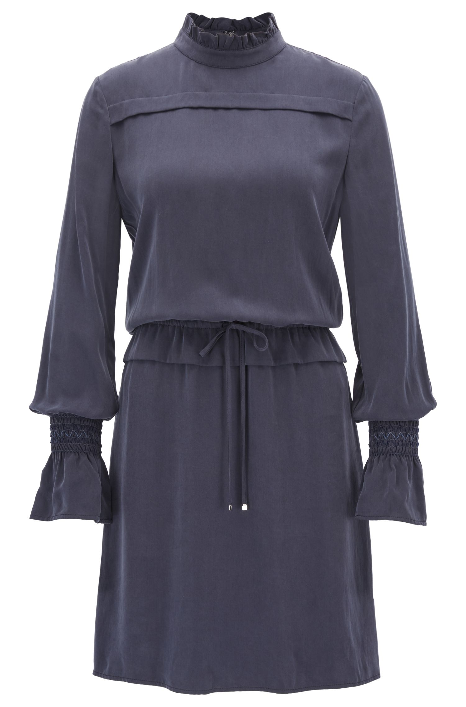 Modal dress with ruffle trims