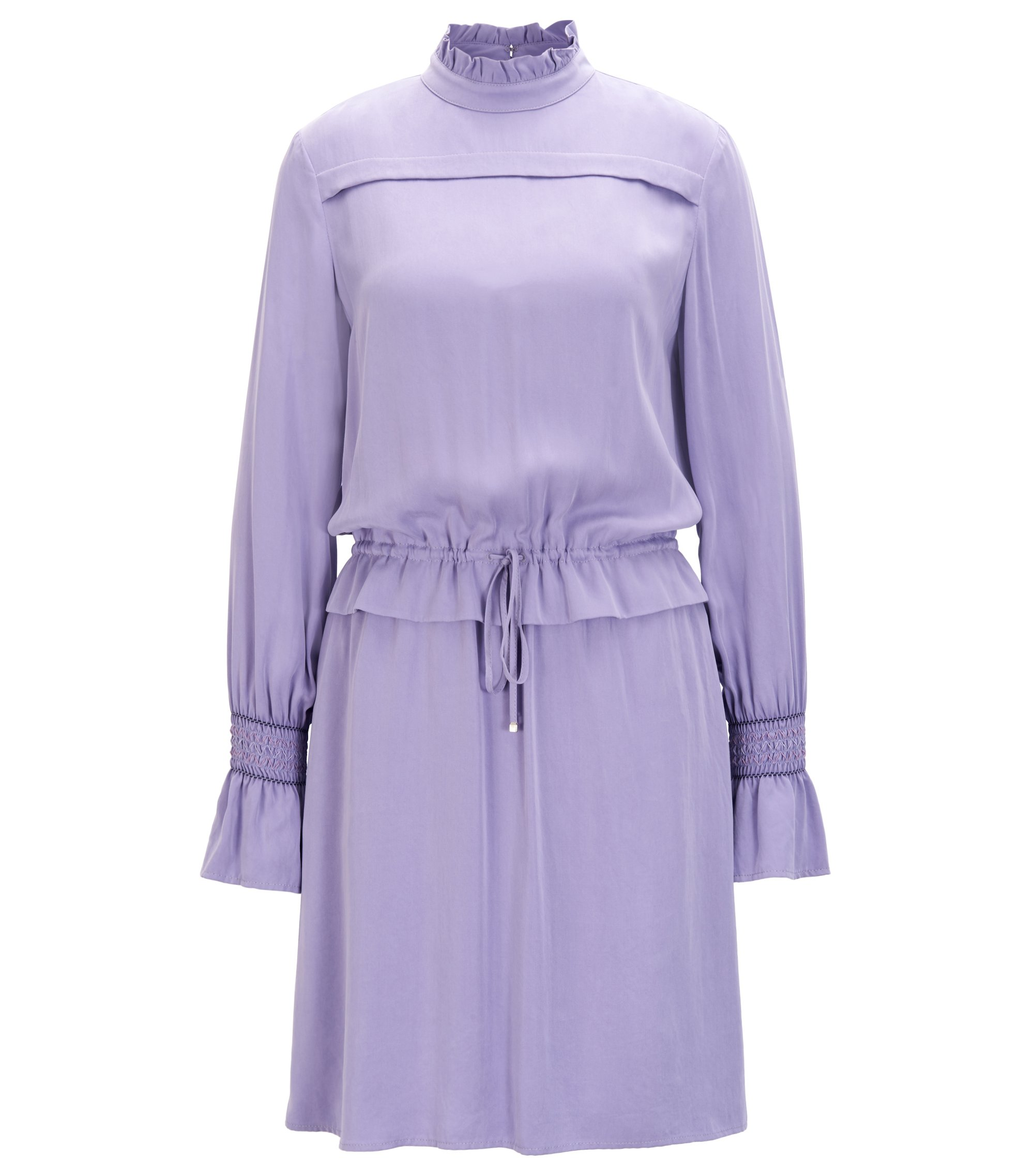 Modal dress with ruffle trims, Purple