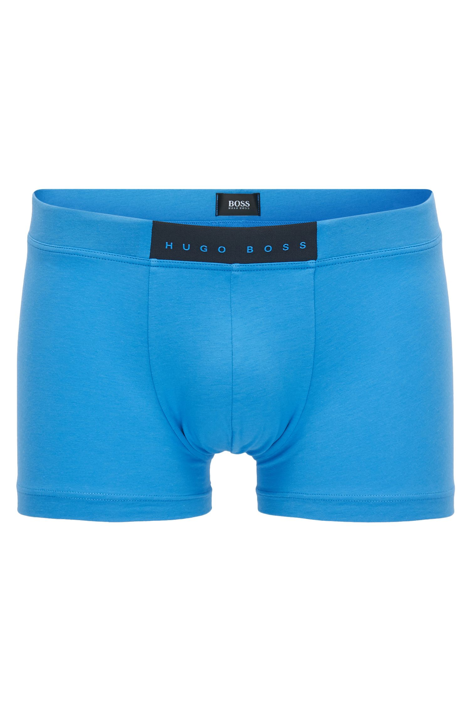 Regular-rise stretch trunks with rubberised logo