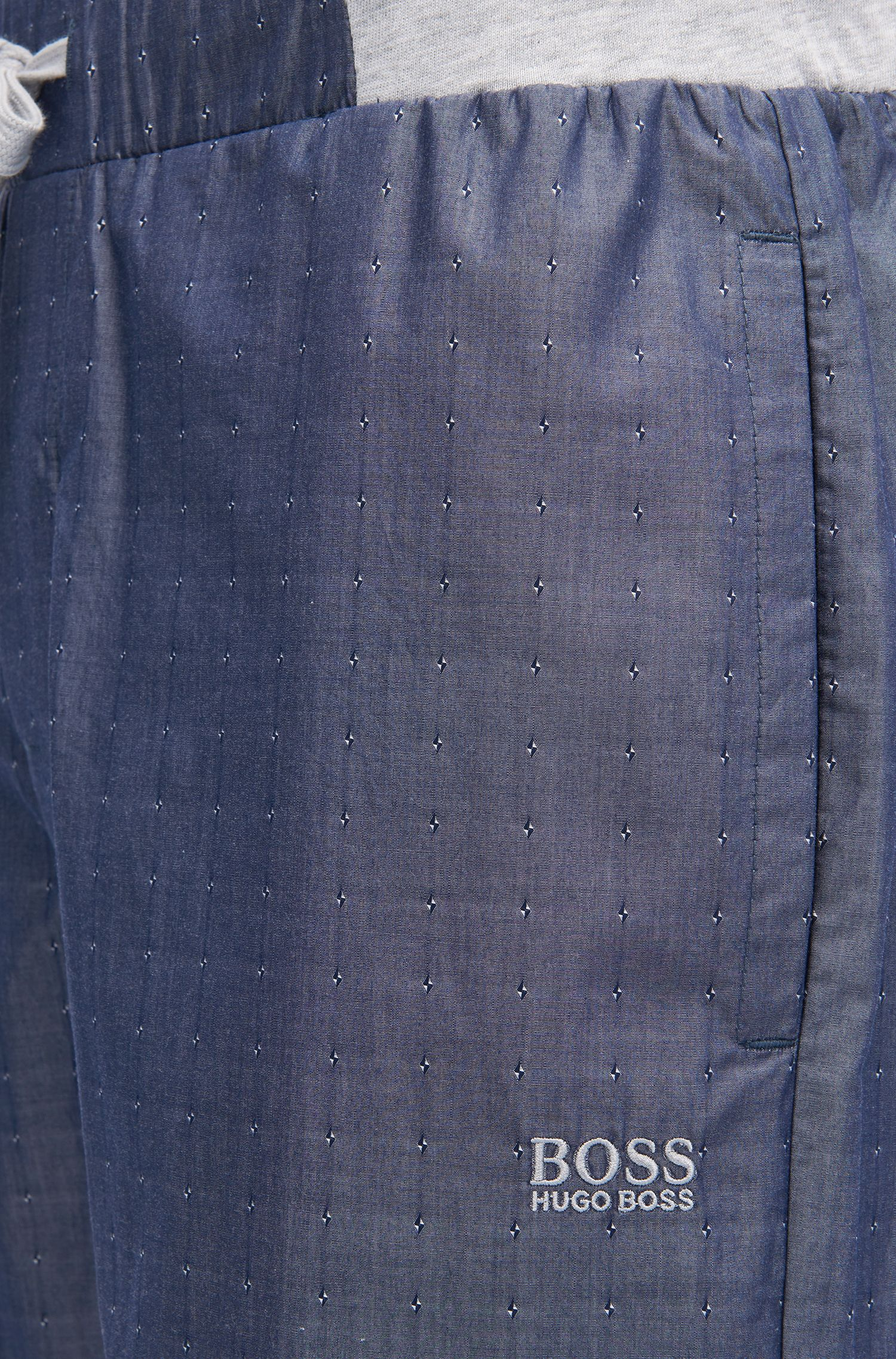 Cuffed-leg cotton pyjama trousers with fils coupé