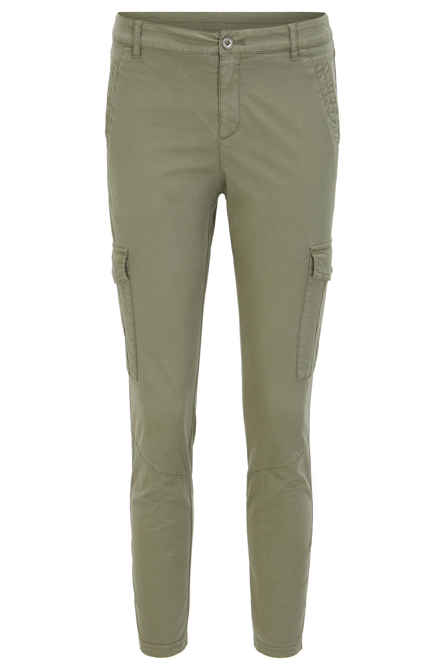 Slim-Fit Cargohose aus Stretch-Baumwolle