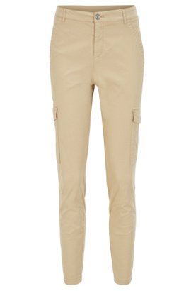 Slim-fit printed cargo trousers in stretch cotton BOSS IhWwi