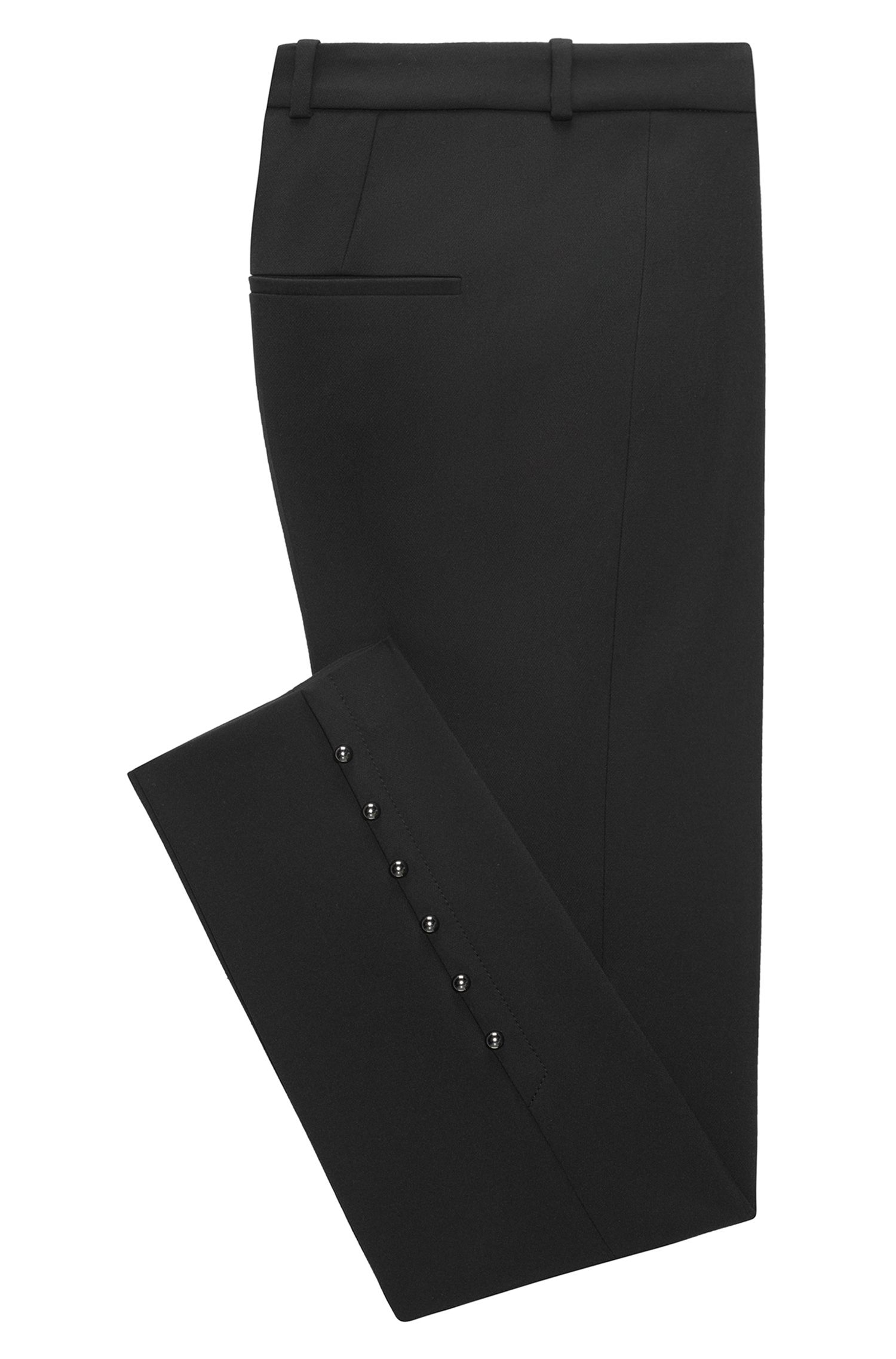 Slim-fit cropped trousers with pearl details