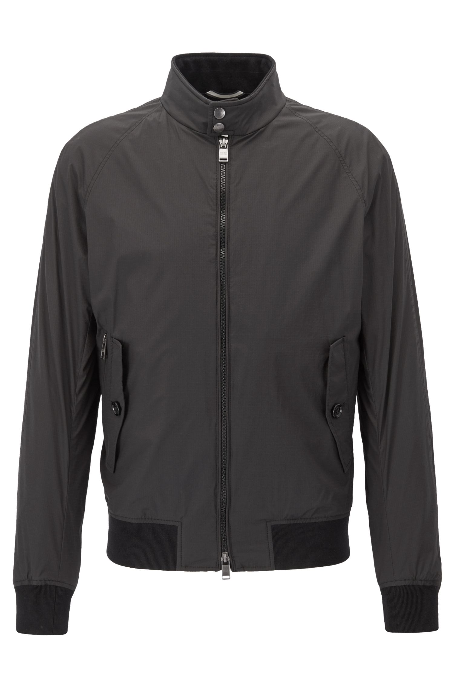 Ultra-light blouson jacket in water-repellent ripstop fabric