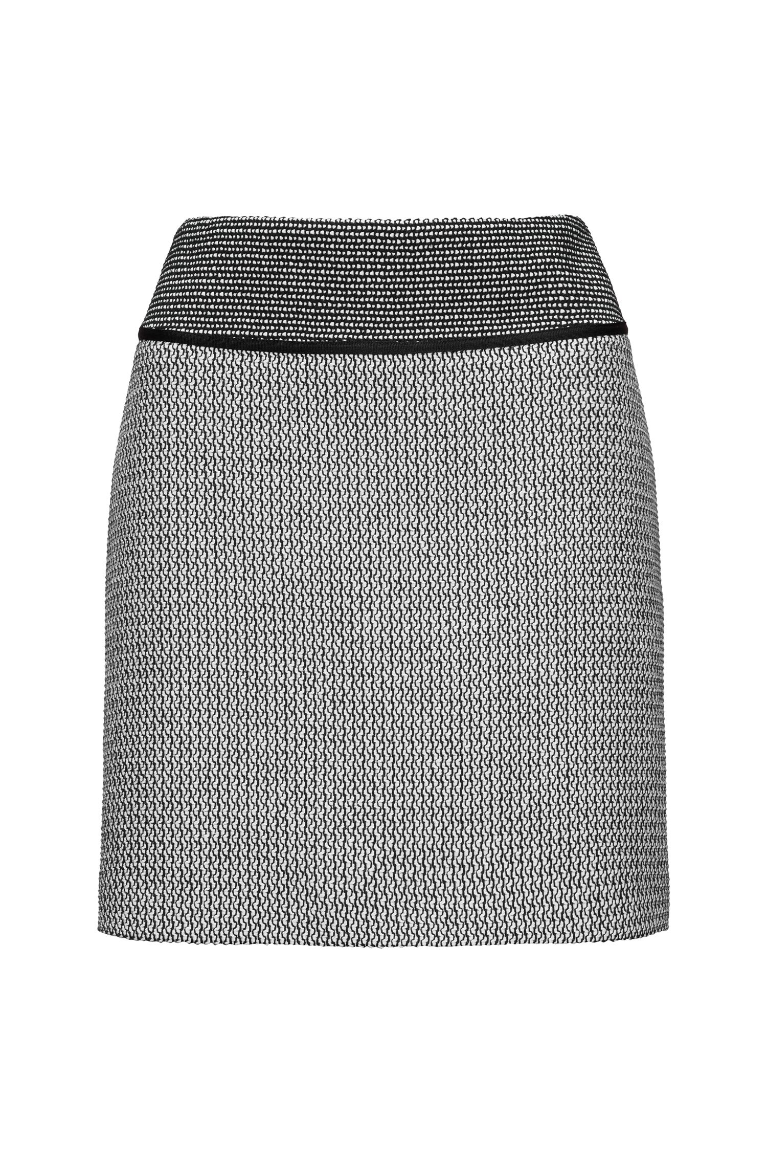 Mini skirt in patched patterns