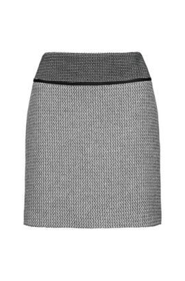 Mini skirt in patched patterns, Patterned