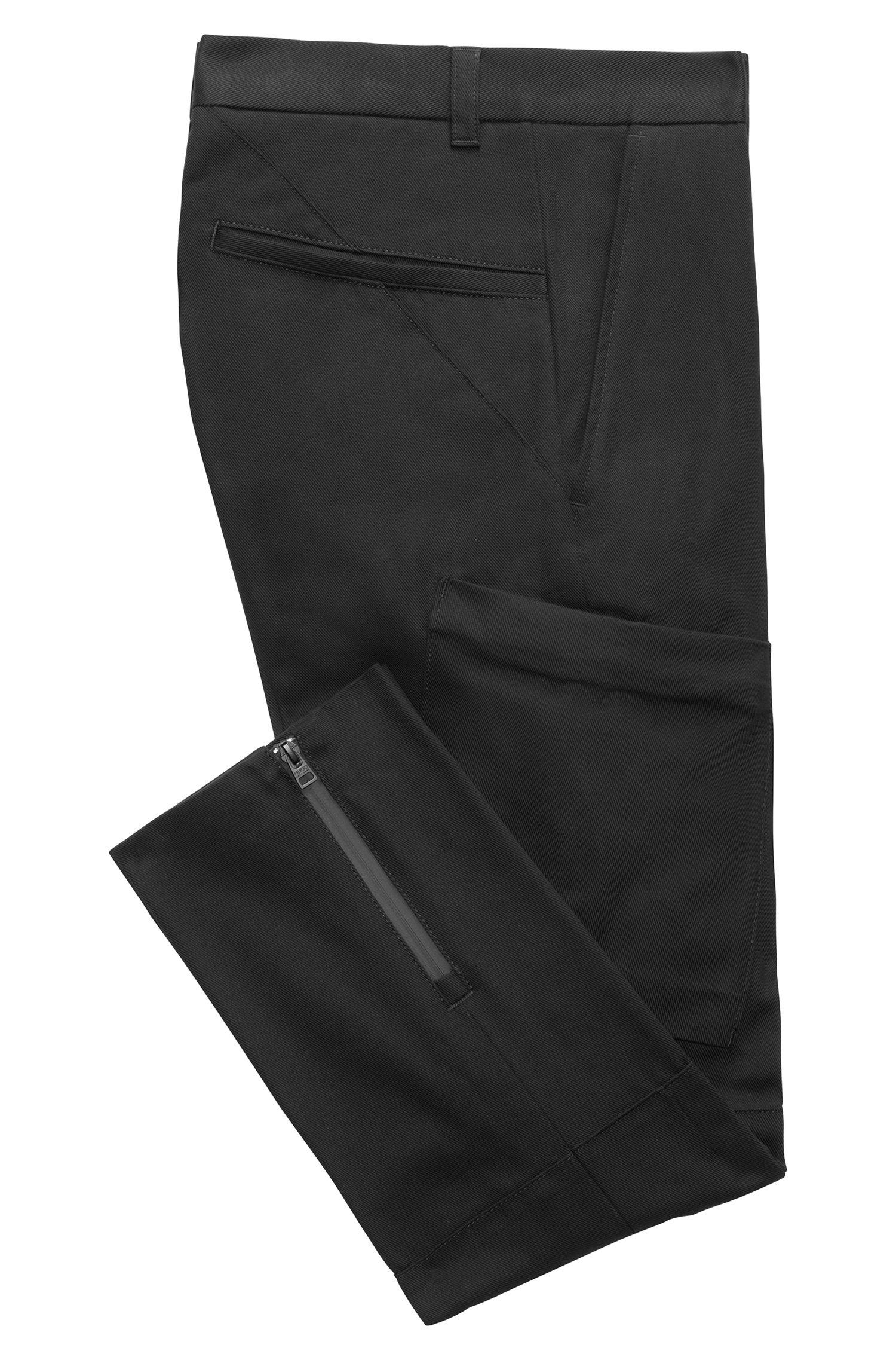 Slim-Fit Cargohose aus Baumwolle mit Zipper am Beinabschluss